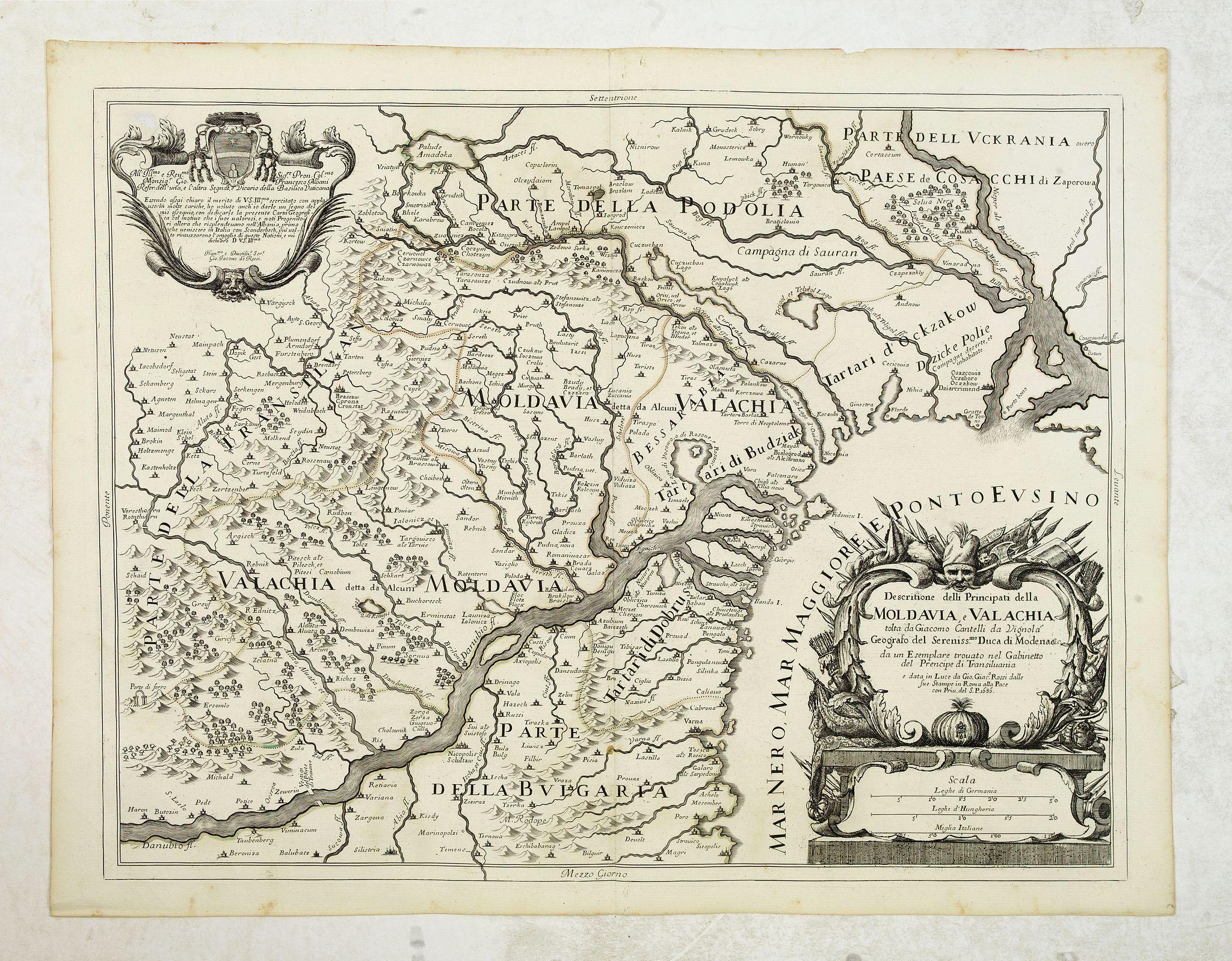 ROSSI, G.G. -  Descritione delli principati della Moldavia e Valachia / tolta da Giacomo Cantelli da Vignola.