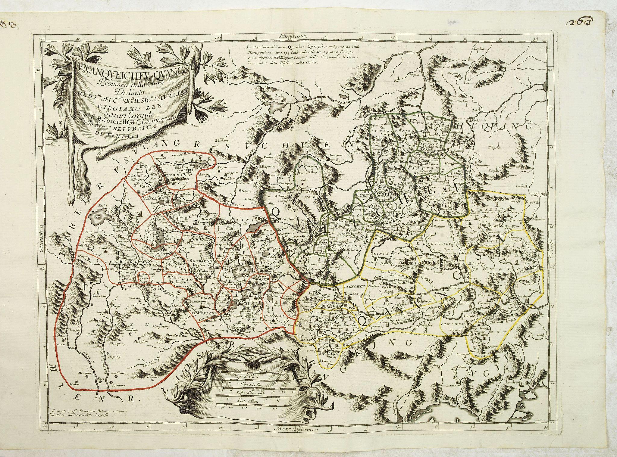 CORONELLI, V.M. -  Iunan, Queichev, e Quangsi Provincie della Cina. . .