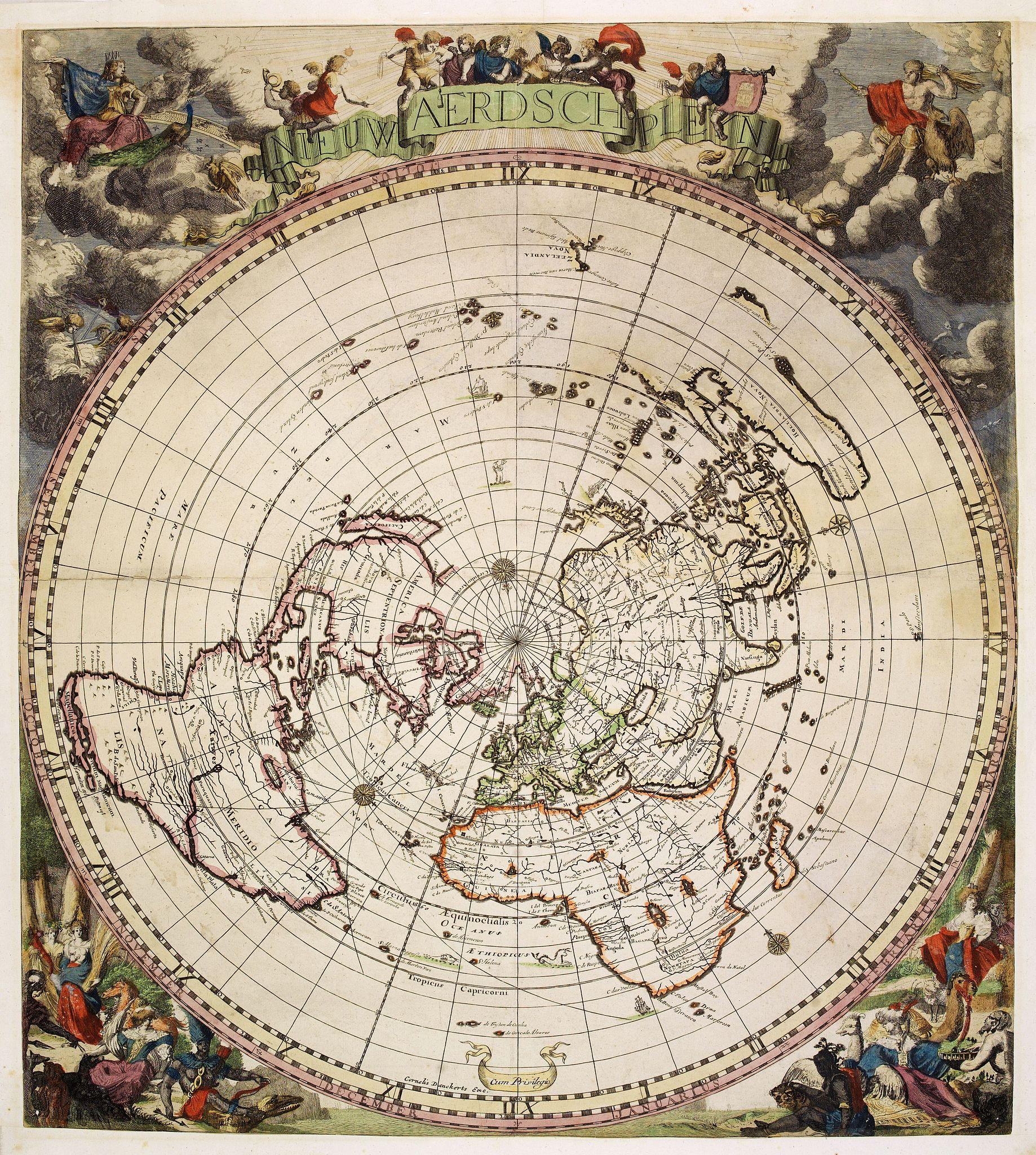 Old Map By Robijn Nieuw Aerdsch Pleyn