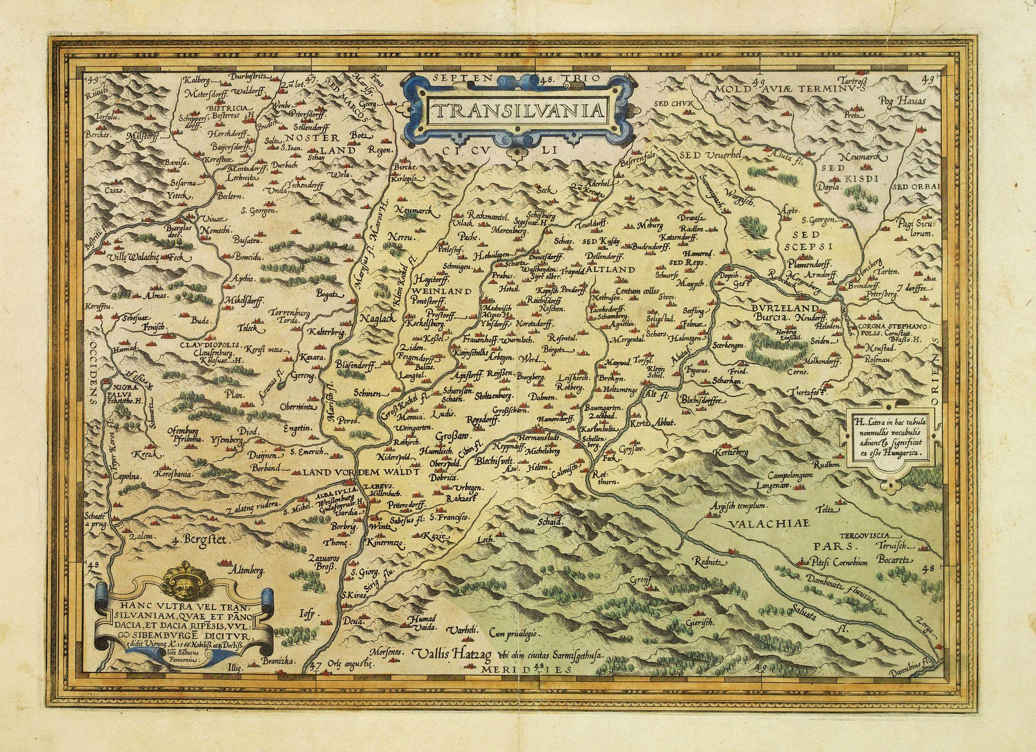 ORTELIUS, A. -  Transilvania.