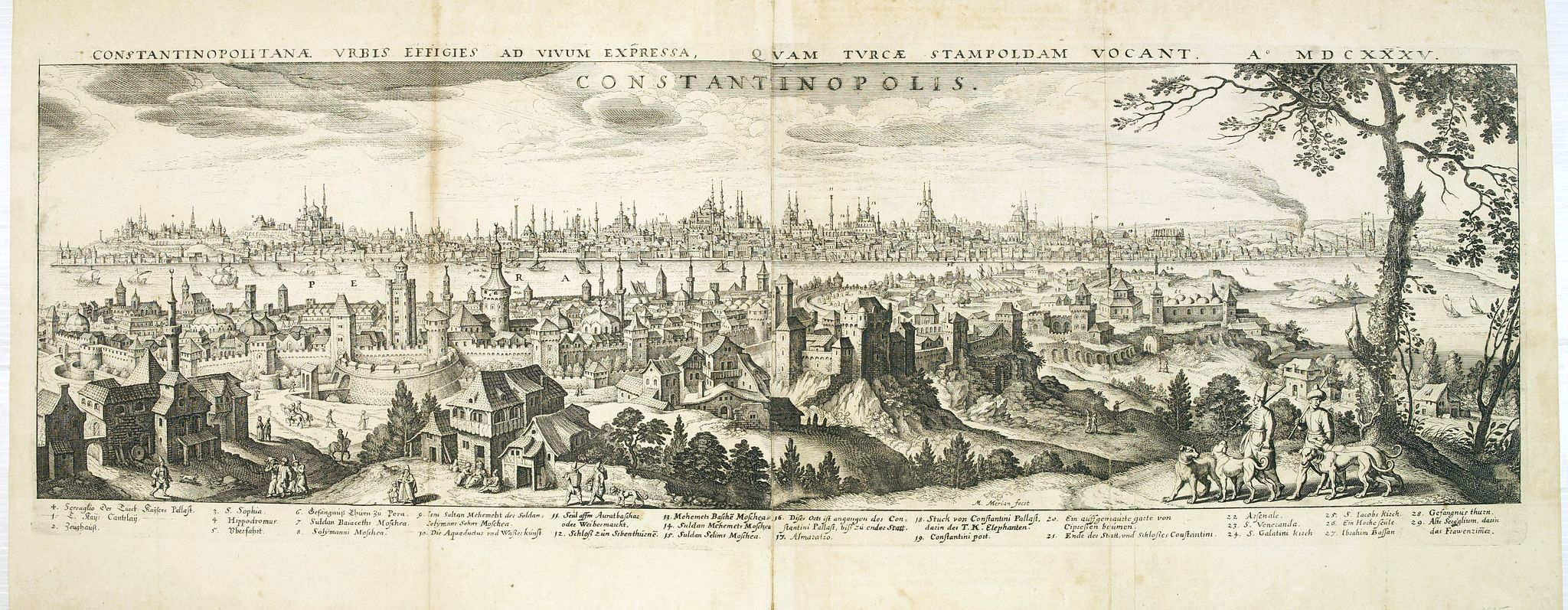 MERIAN, M. -  Constantinopolitanae urbis effigies ad vivum expressa, quam Turcae Stampoldam vocant. A° MDCXXXV.