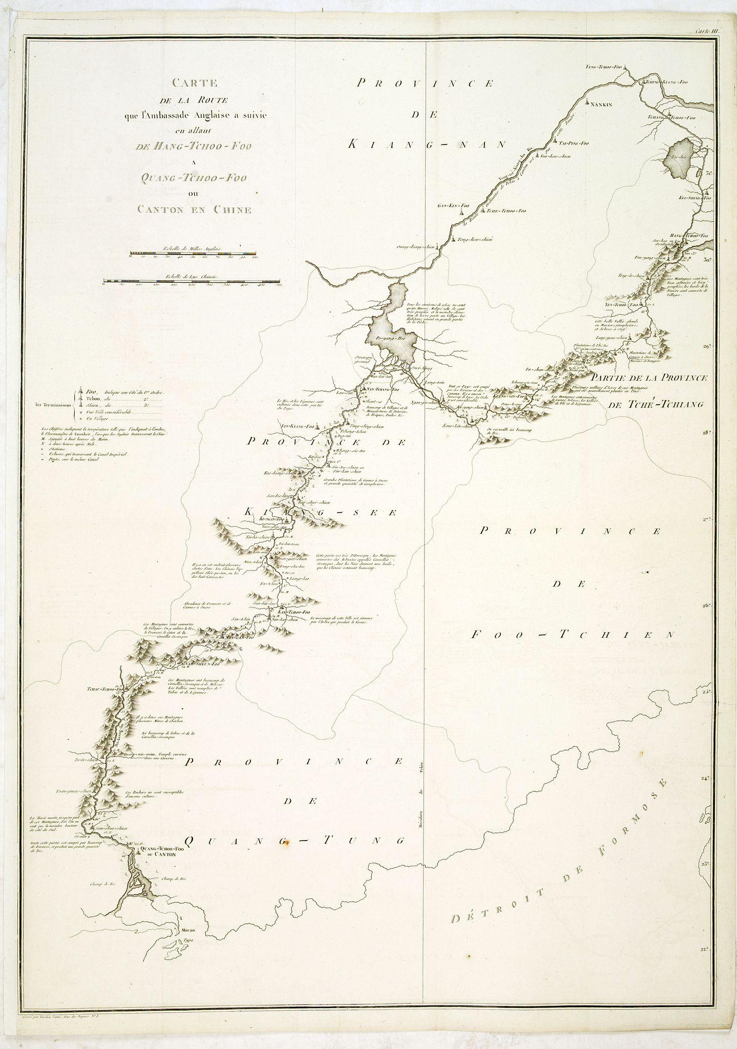TARDIEU, J.B.P. / STAUNTON, G.L. -  Carte de la route que l