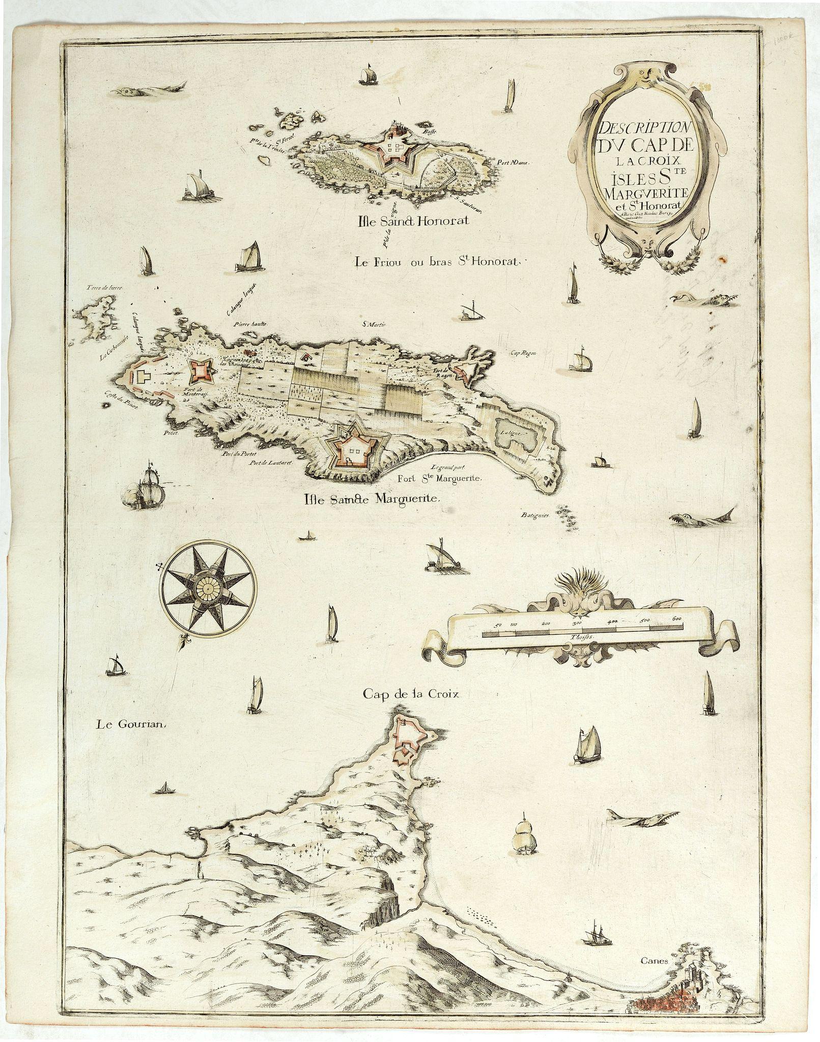 TASSIN, Ch. / BEREY, N. -  Description Du Cap De La Croix Isles Ste Marguerite et St Honorat.