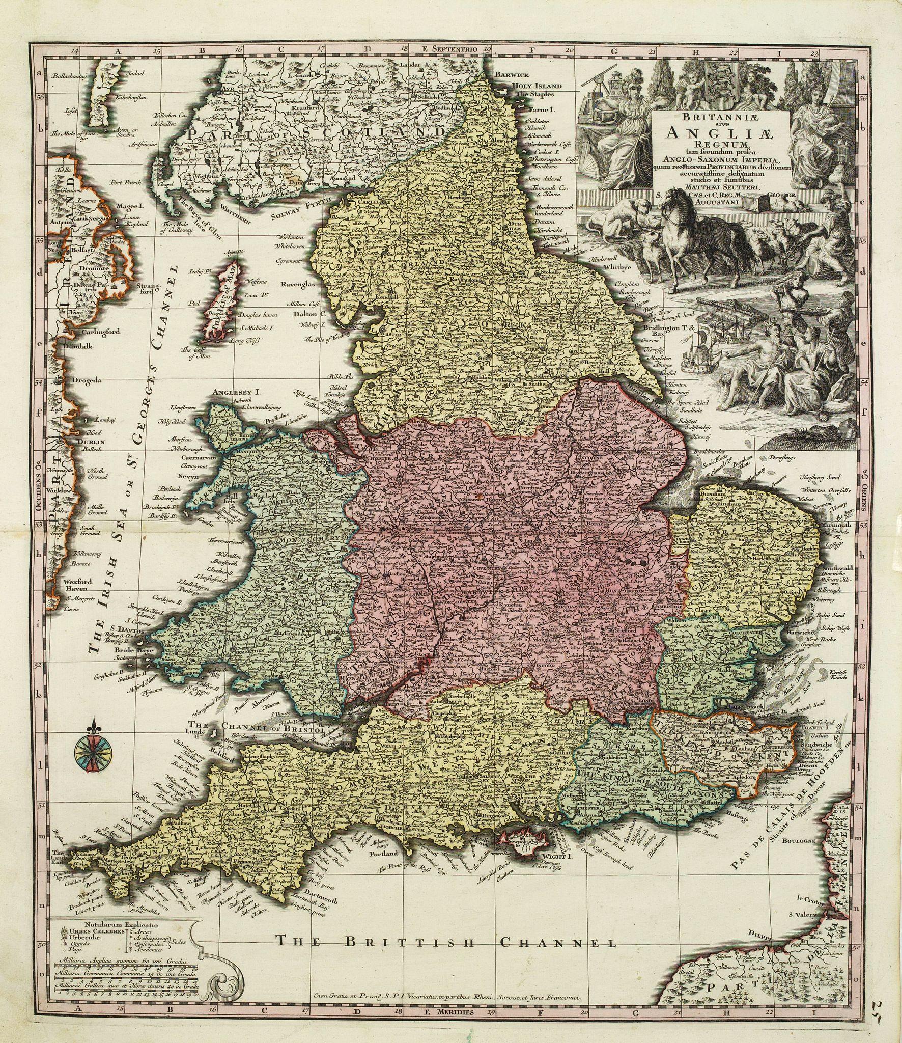 SEUTTER, M. -  Britanniae sive Angliae regnum ..
