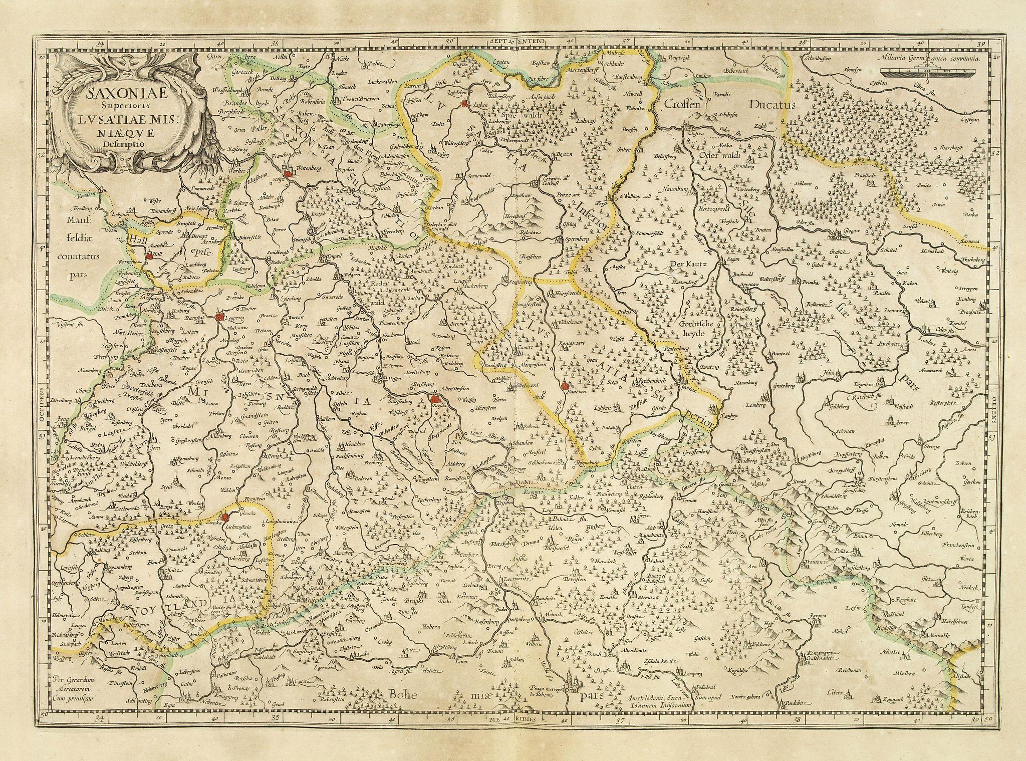 MERCATOR, G. -  Saxoniae Superioris Lusatiae Misniaeque. . .