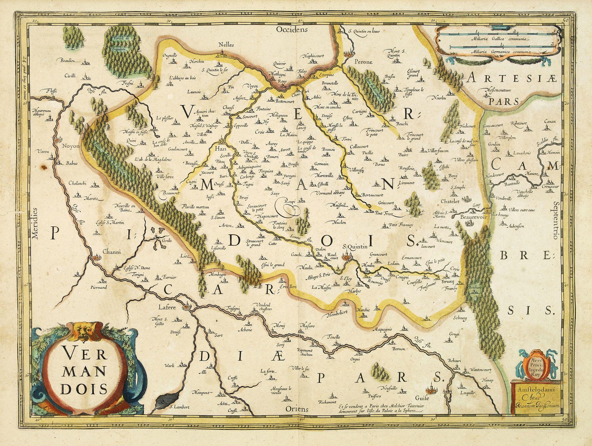JANSSONIUS, J. / TAVERNIER, M. -  Vermandois.