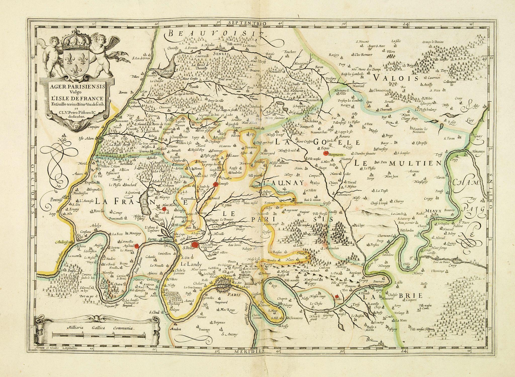 JANSSONIUS, J. -  Ager Parisiensis vulgo l'Isle de France.