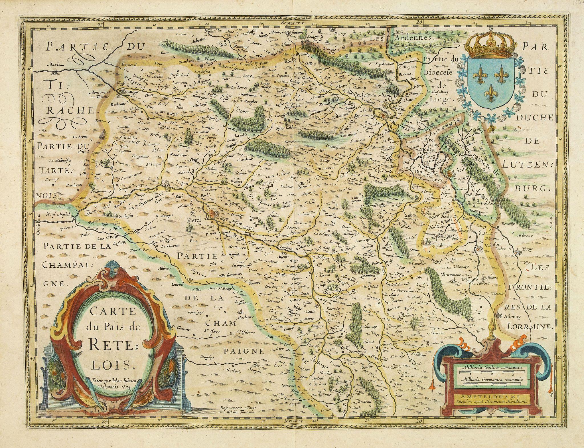 JANSSONIUS, J. -  Carte du pais de Retelois.