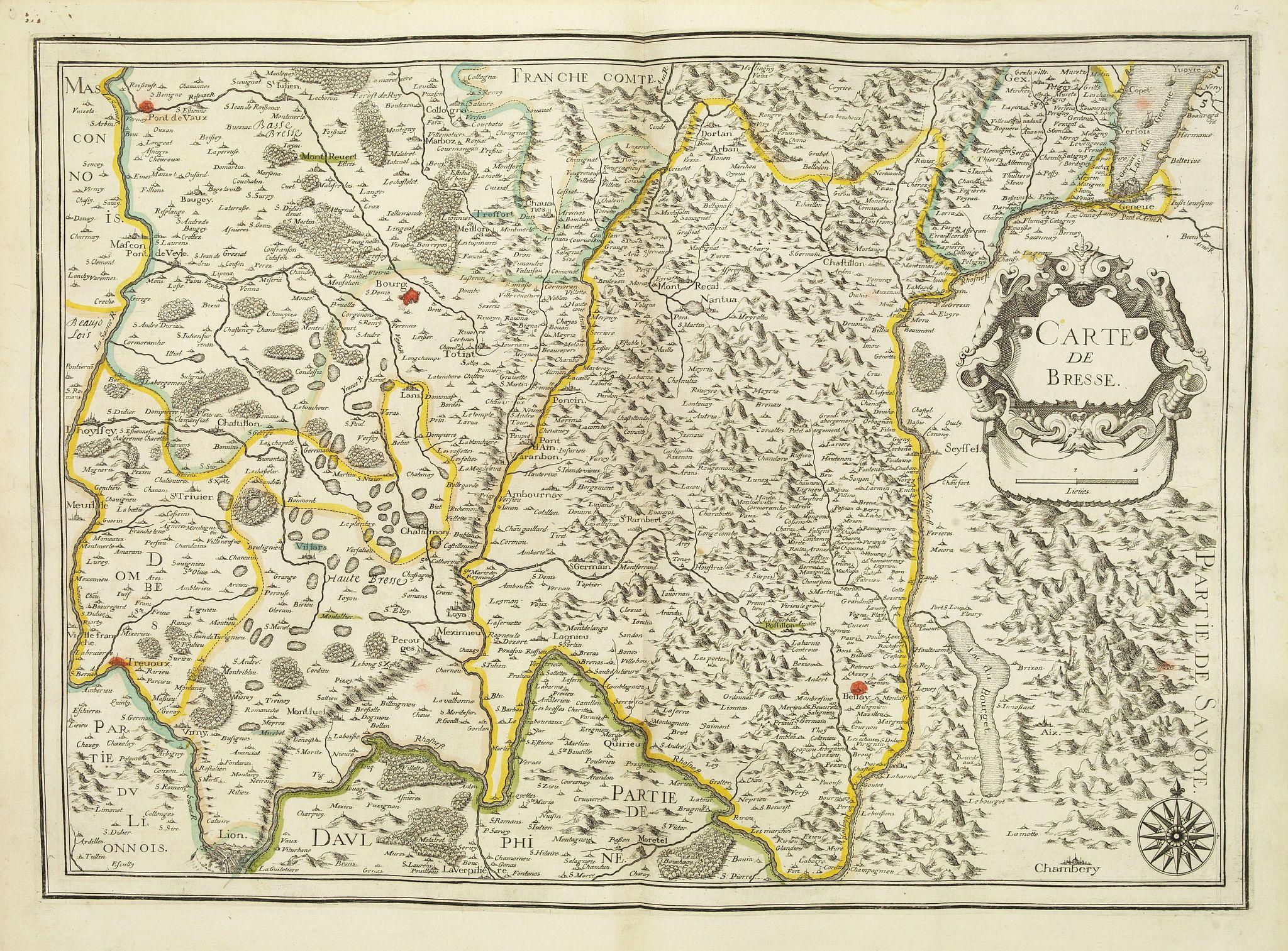 TASSIN, N. -  Carte de Bresse.