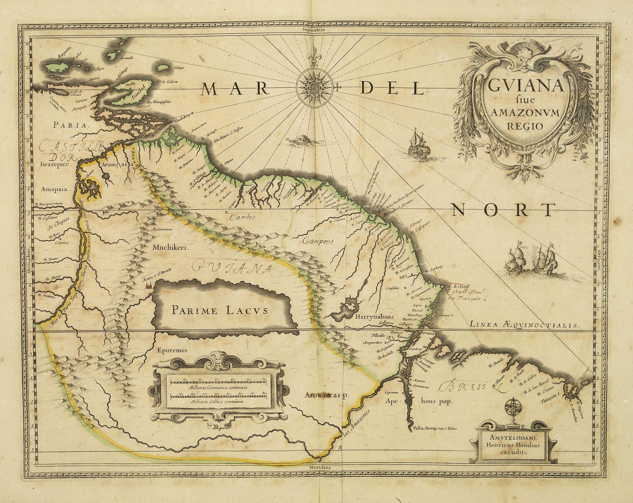 HONDIUS, H. -  Guiana sive Amazonum Regio.