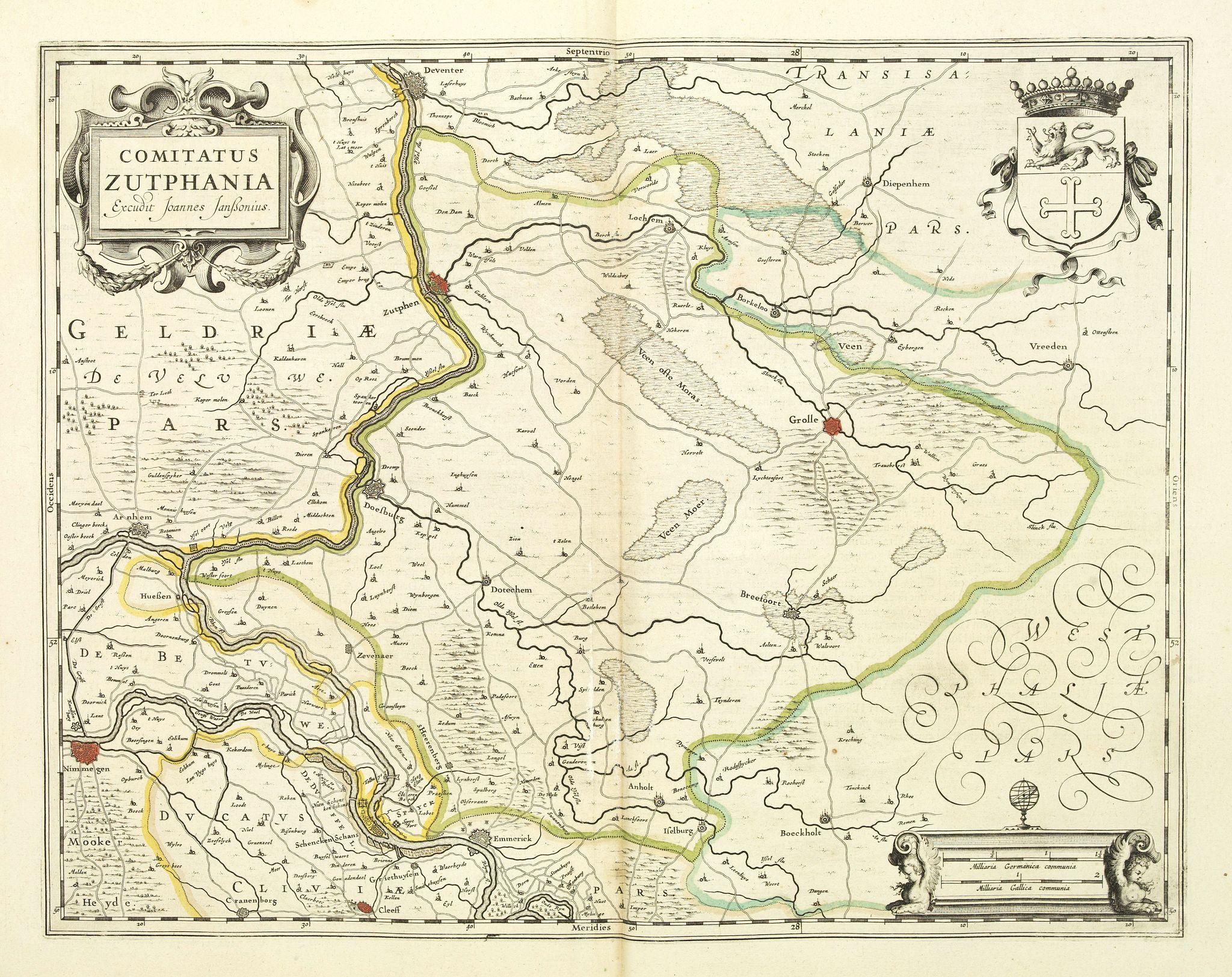 JANSSONIUS, J. -  Comitatus Zutphania.