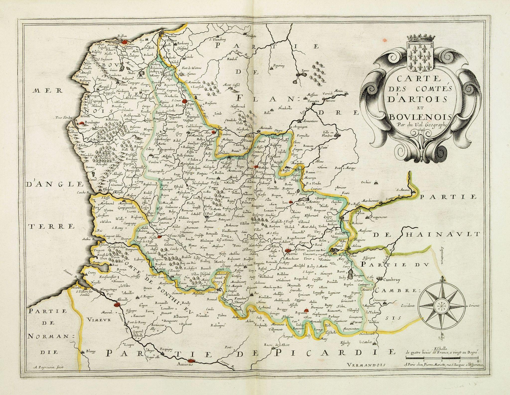 DUVAL, P. / MARIETTE, P. -  Carte des comtes d