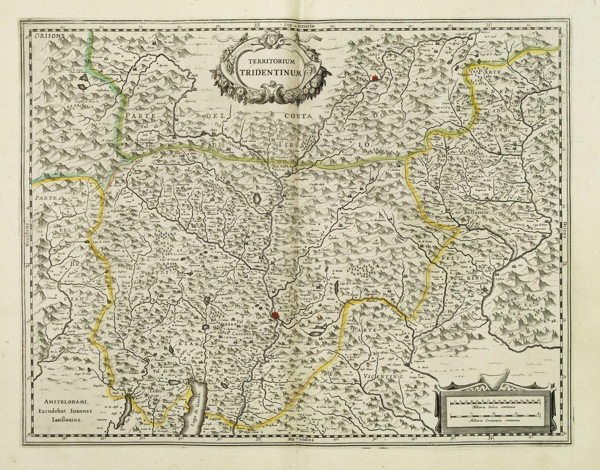 JANSSONIUS, J. -  Territorium Tridentinum.