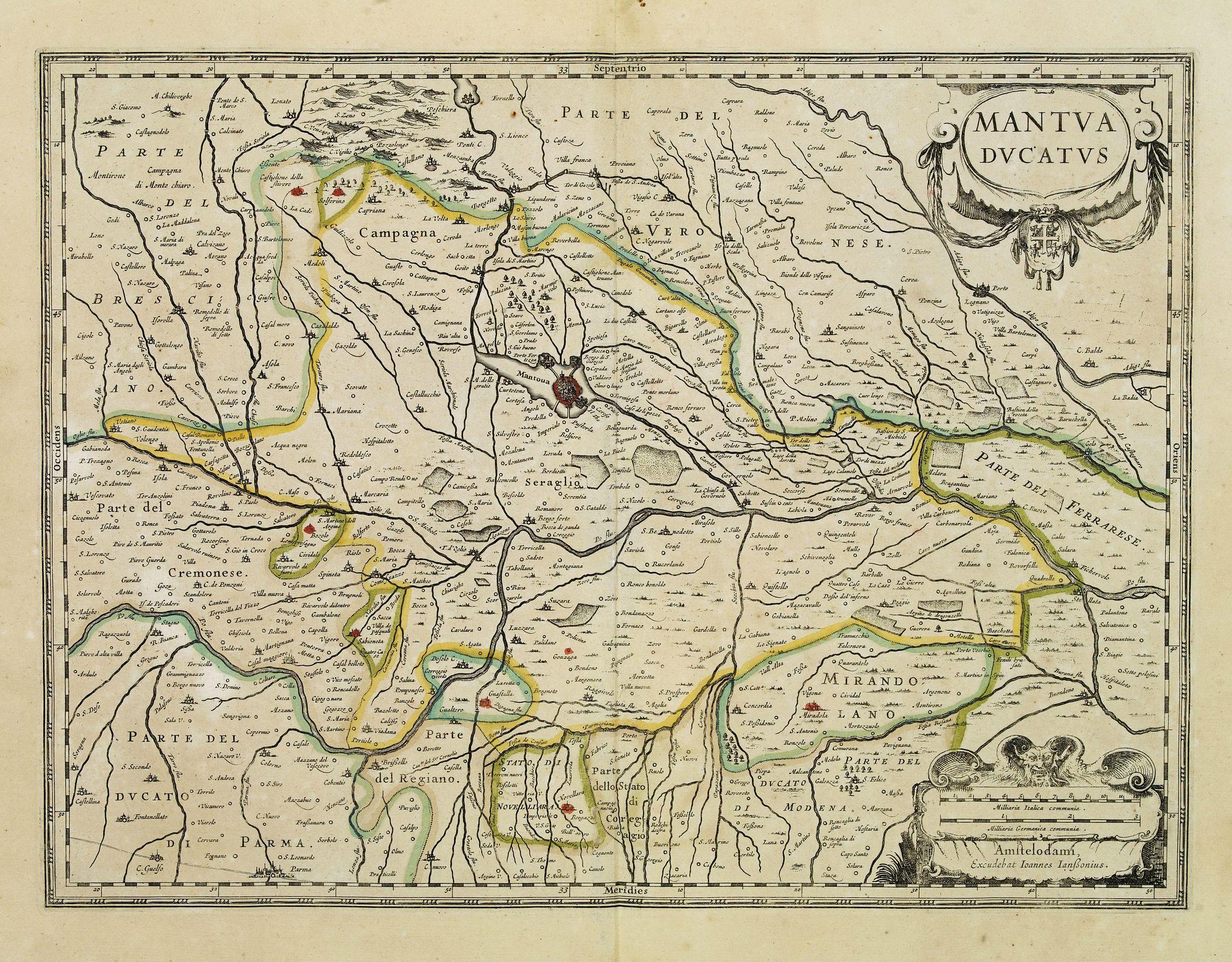 JANSSONIUS, J. -  Mantua ducatus.