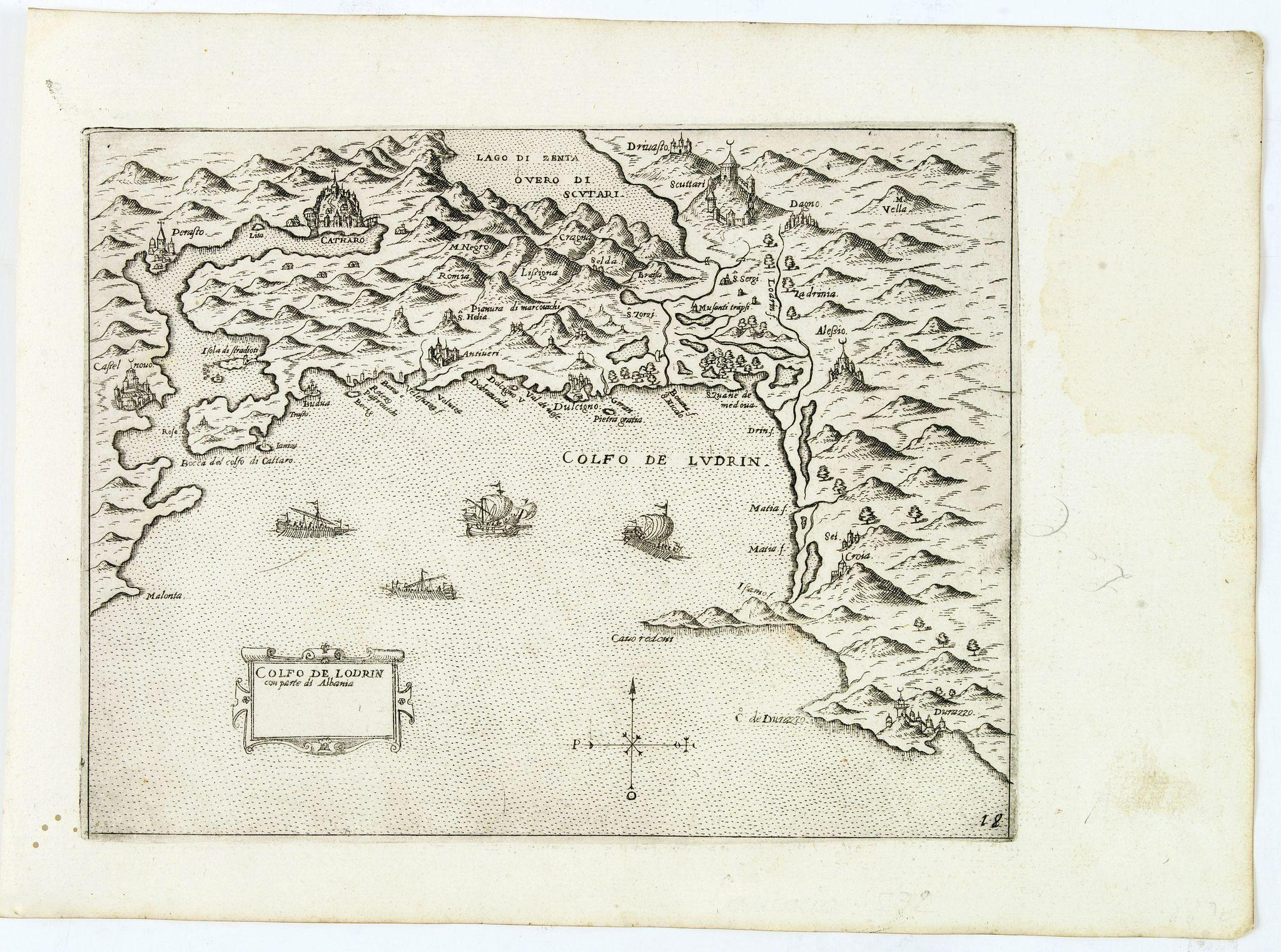 CAMOCIO, G.F. -  Golfo de Lodrin con parte di Albania.