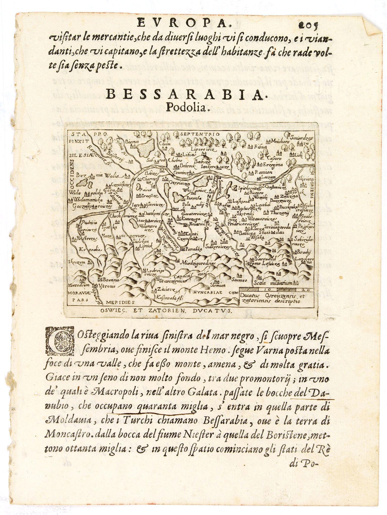 ORTELIUS, A. / MACHETTI, P. -  Oswiec. et Zatorien. Ducatus.