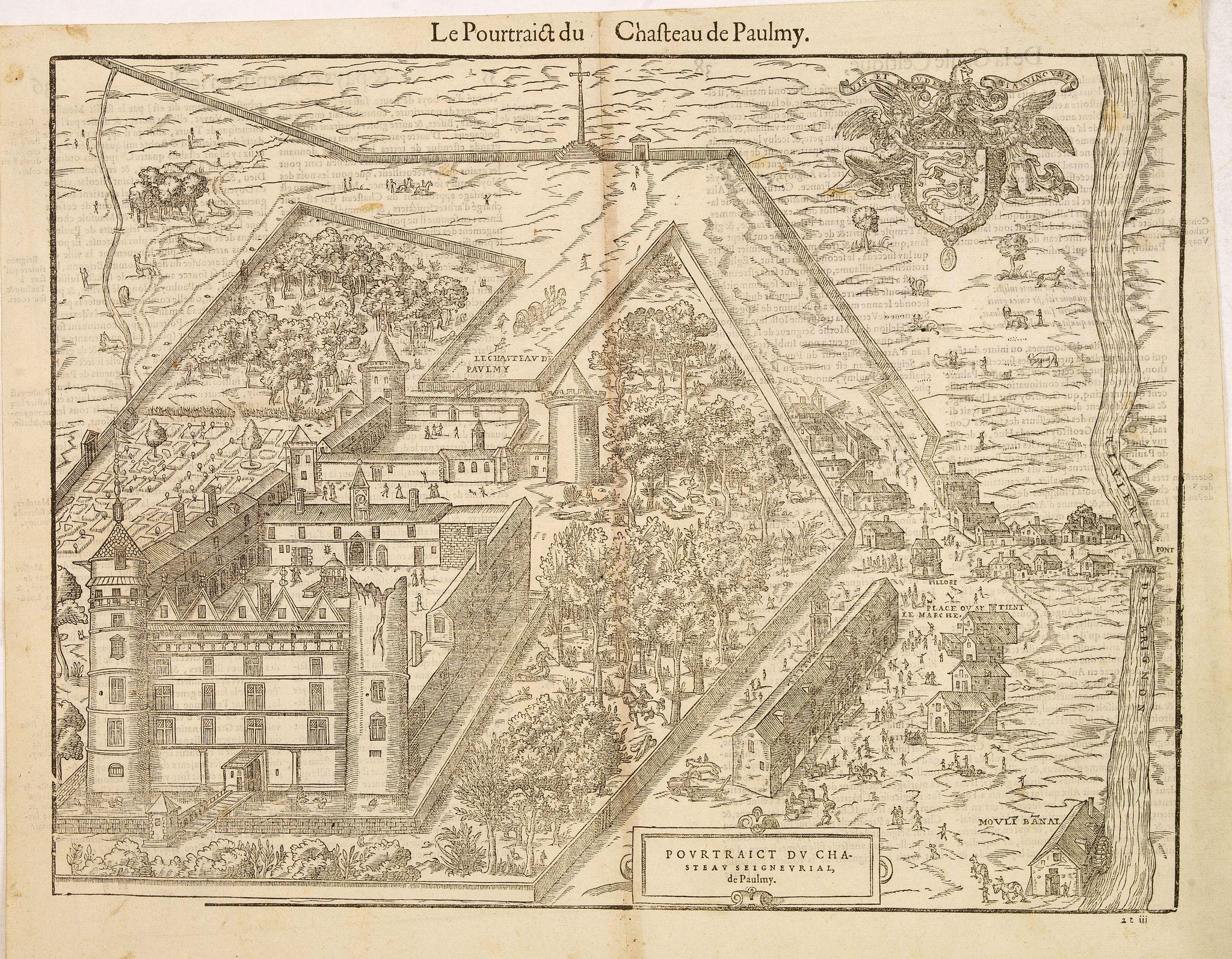 BELLEFOREST, François de. -  Pourtraict du chasteau seigneurial, de Paulmy.