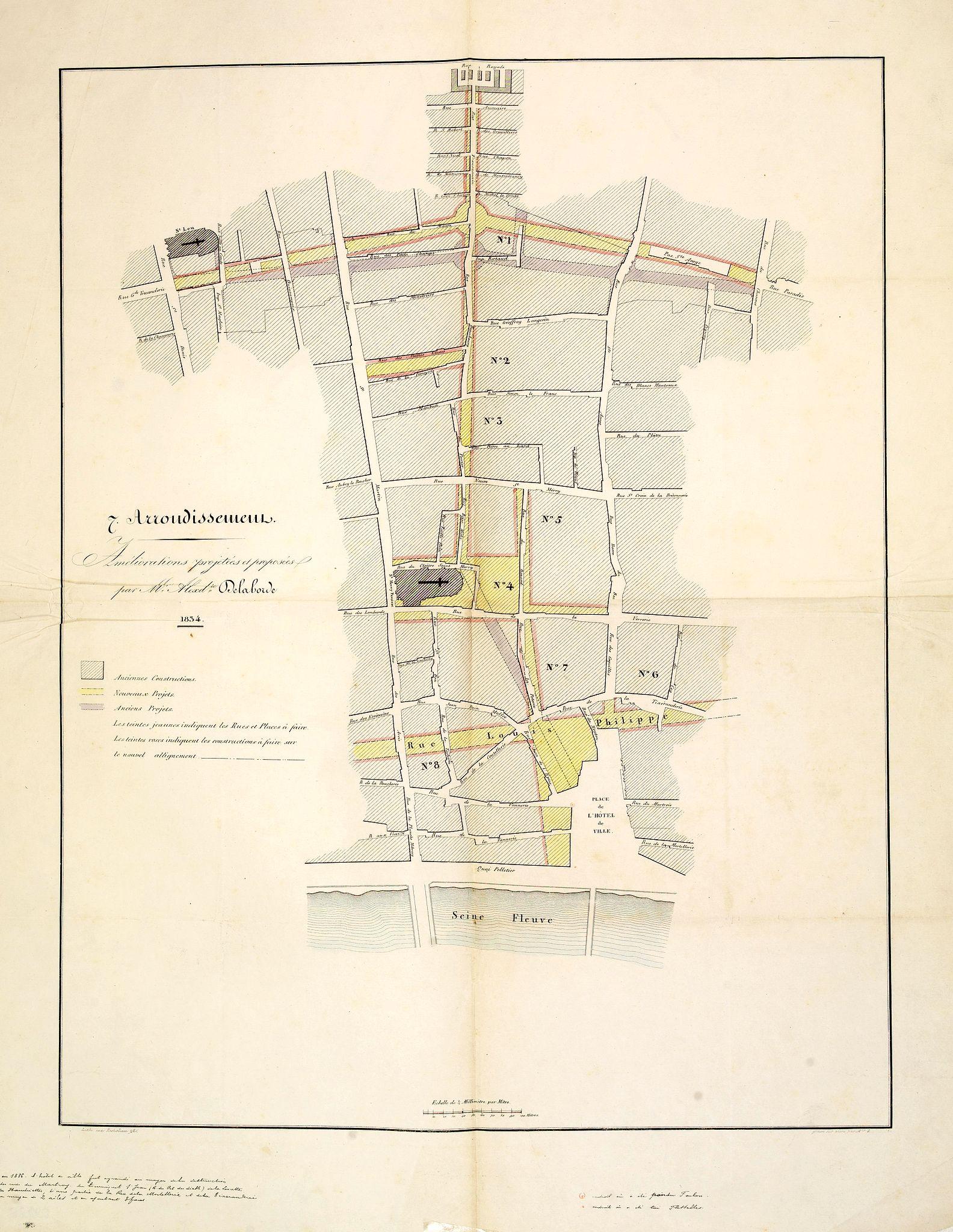 LABORDE, Alexandre-Louis-Joseph de. -   7. Arrondissement. Améliorations projetées et proposées par M. Alexd.re Delaborde.