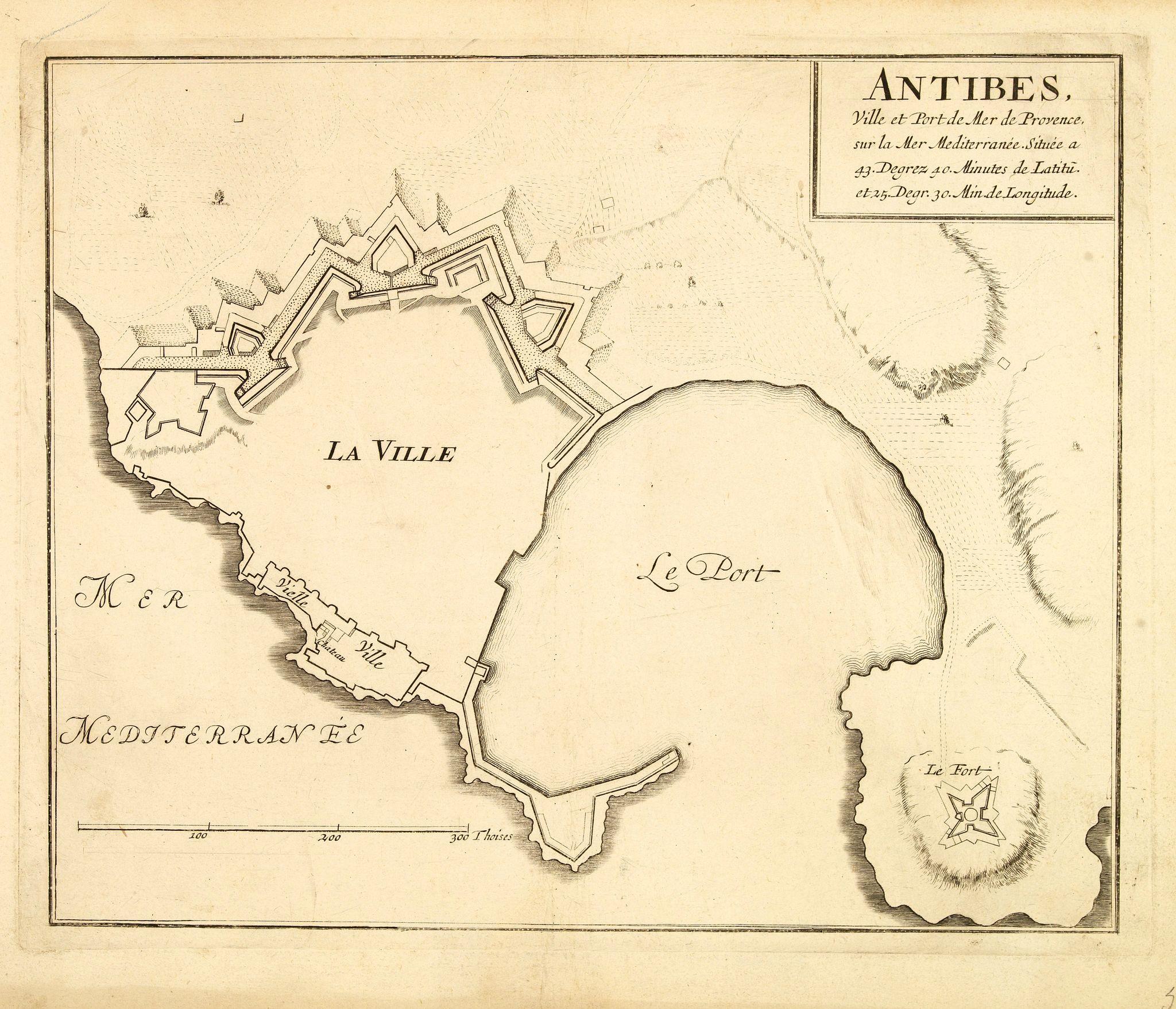 FER de, N. -  ANTIBES, Ville et Port de Mer de Provence, sur la Mer Mediterranée.