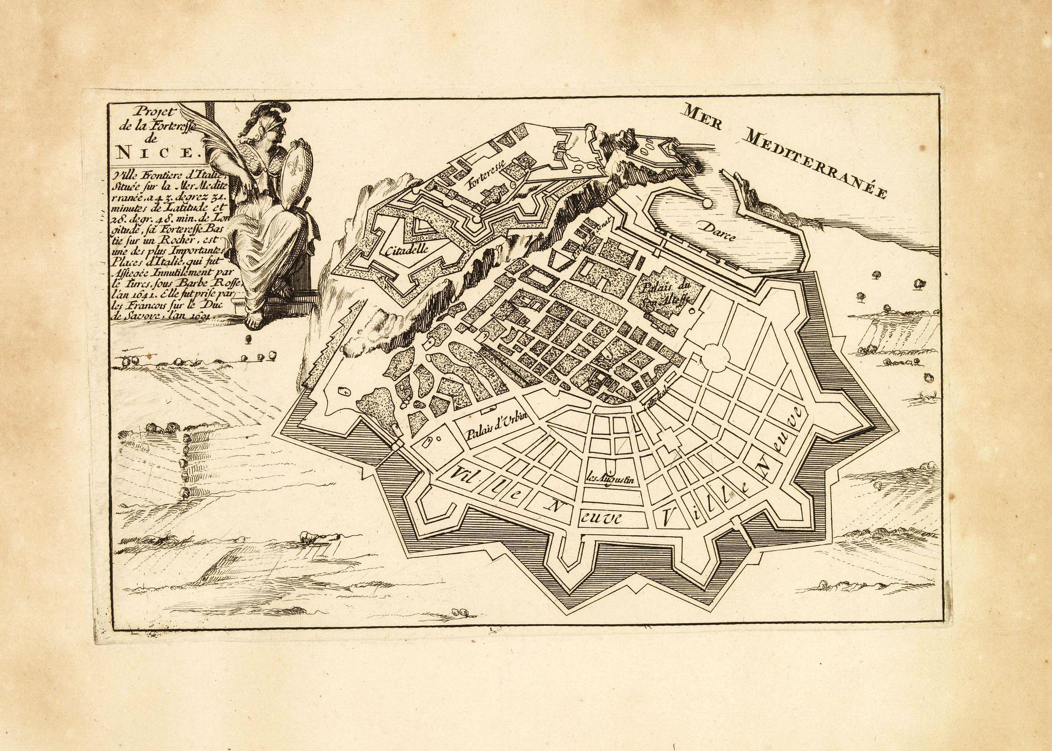 DE FER, N. -  Projet de la forteresse de Nice.