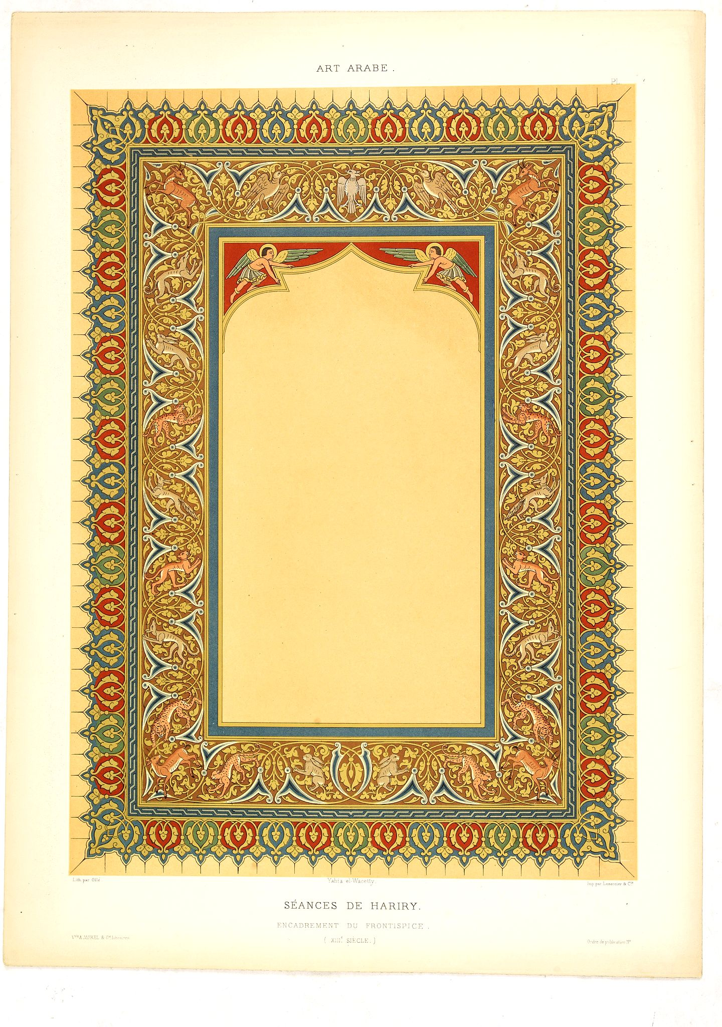 PRISSE D'AVENNES, E. -  Art arabe. - Séances de Hariry.