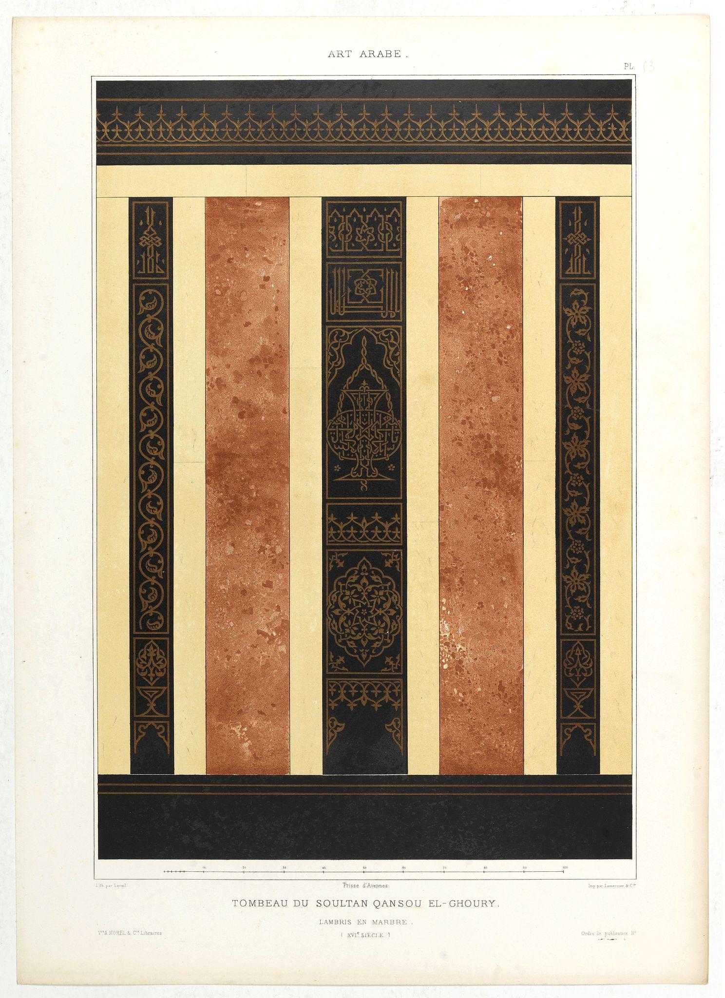 PRISSE D'AVENNES, E. -  Art arabe. - Tombeau du soultan qansou el-Ghoury.