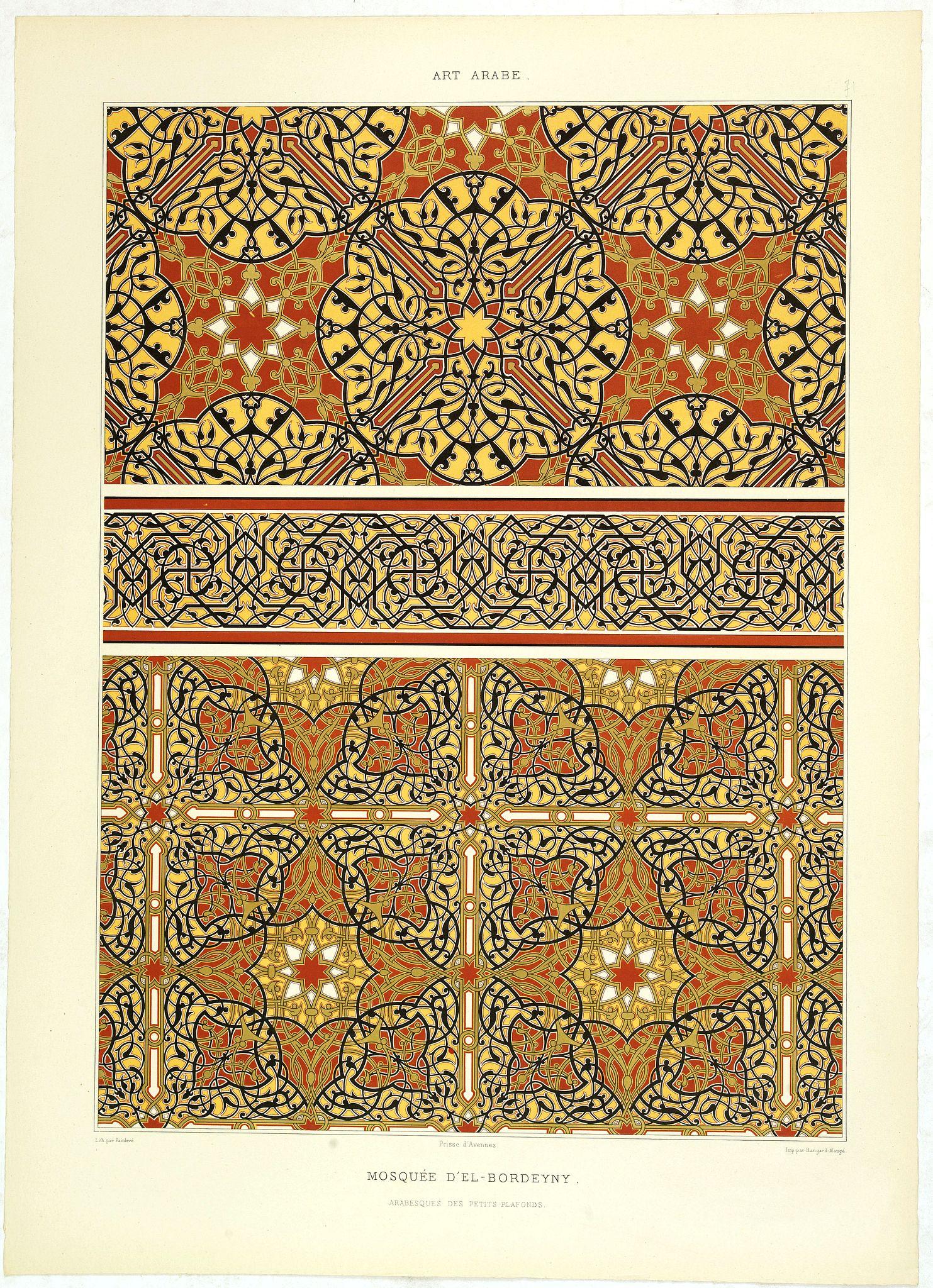 PRISSE D'AVENNES, E. -  Art arabe. - Mosquée d'El-Bordeyny.