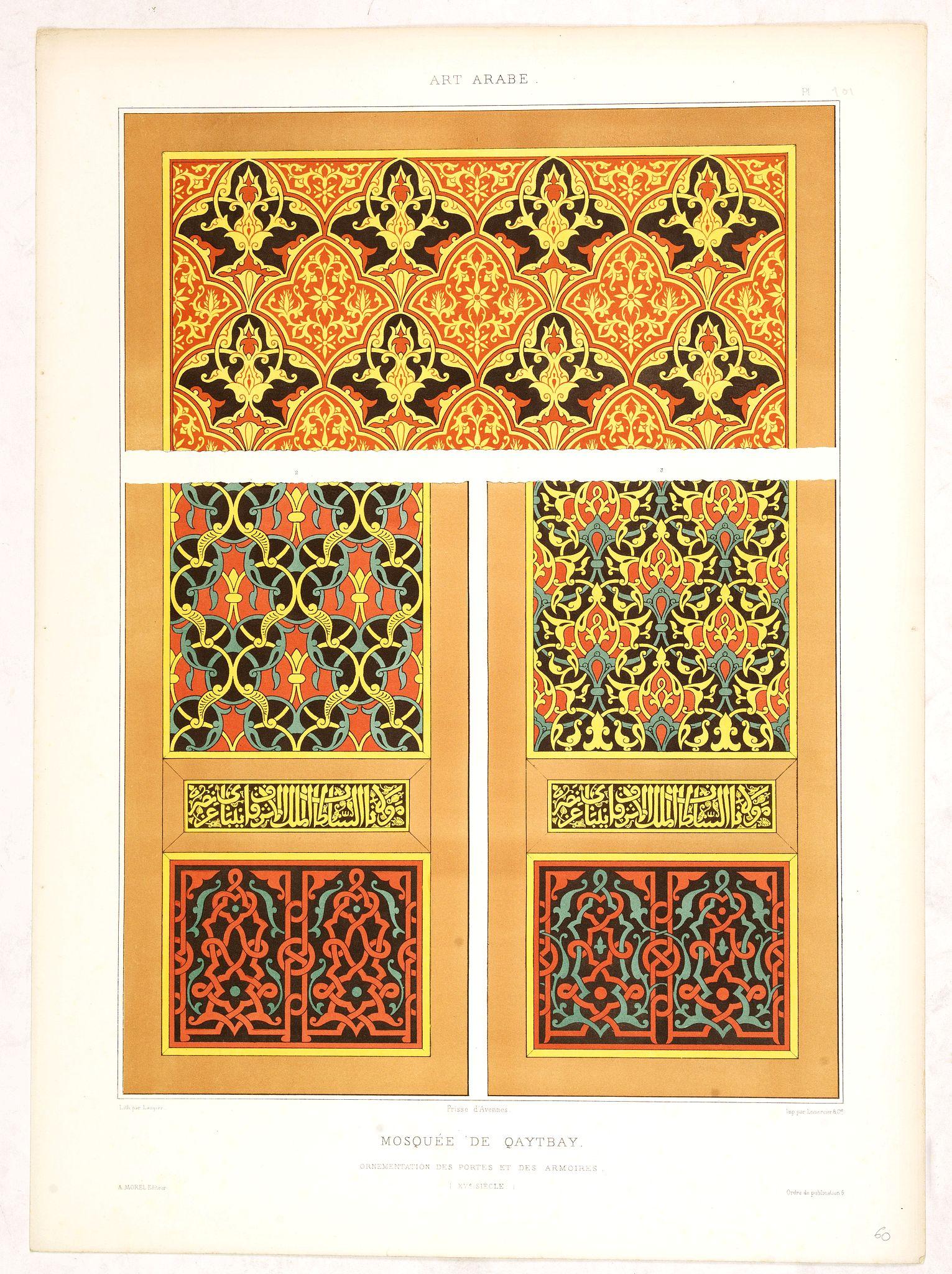 PRISSE D'AVENNES, E. -  Art arabe. - Mosquée de Qaytbay.