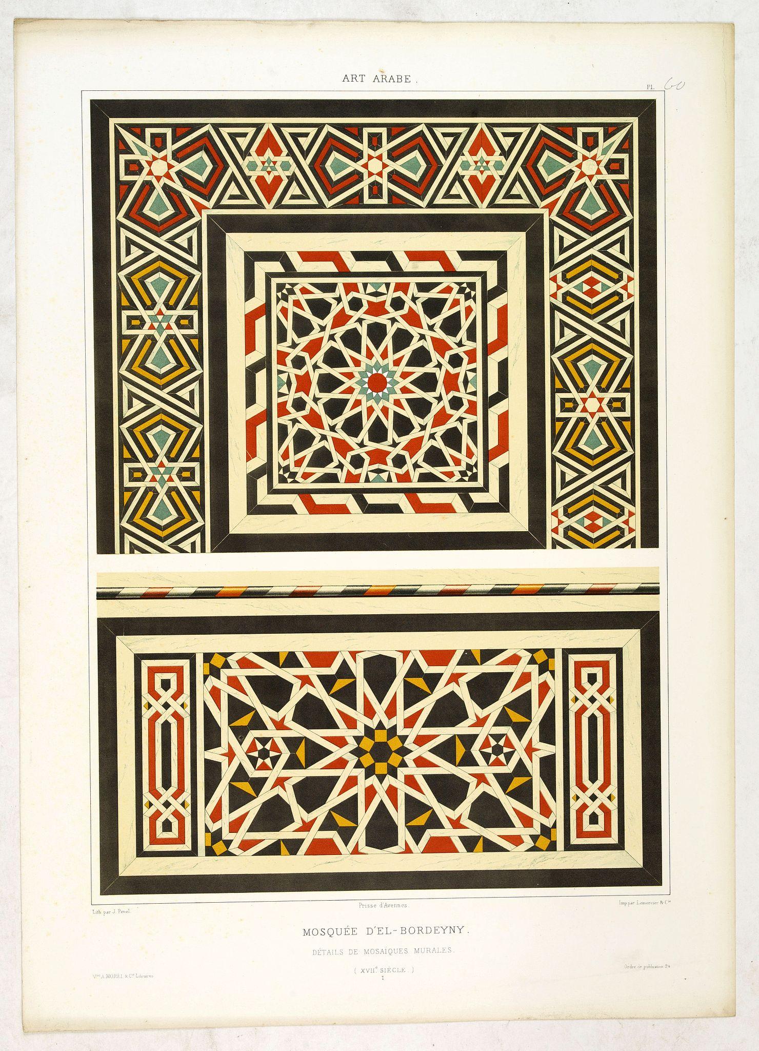 PRISSE D'AVENNES, E. -  Art arabe. - Mosquée d'el-Bordeyny. . .
