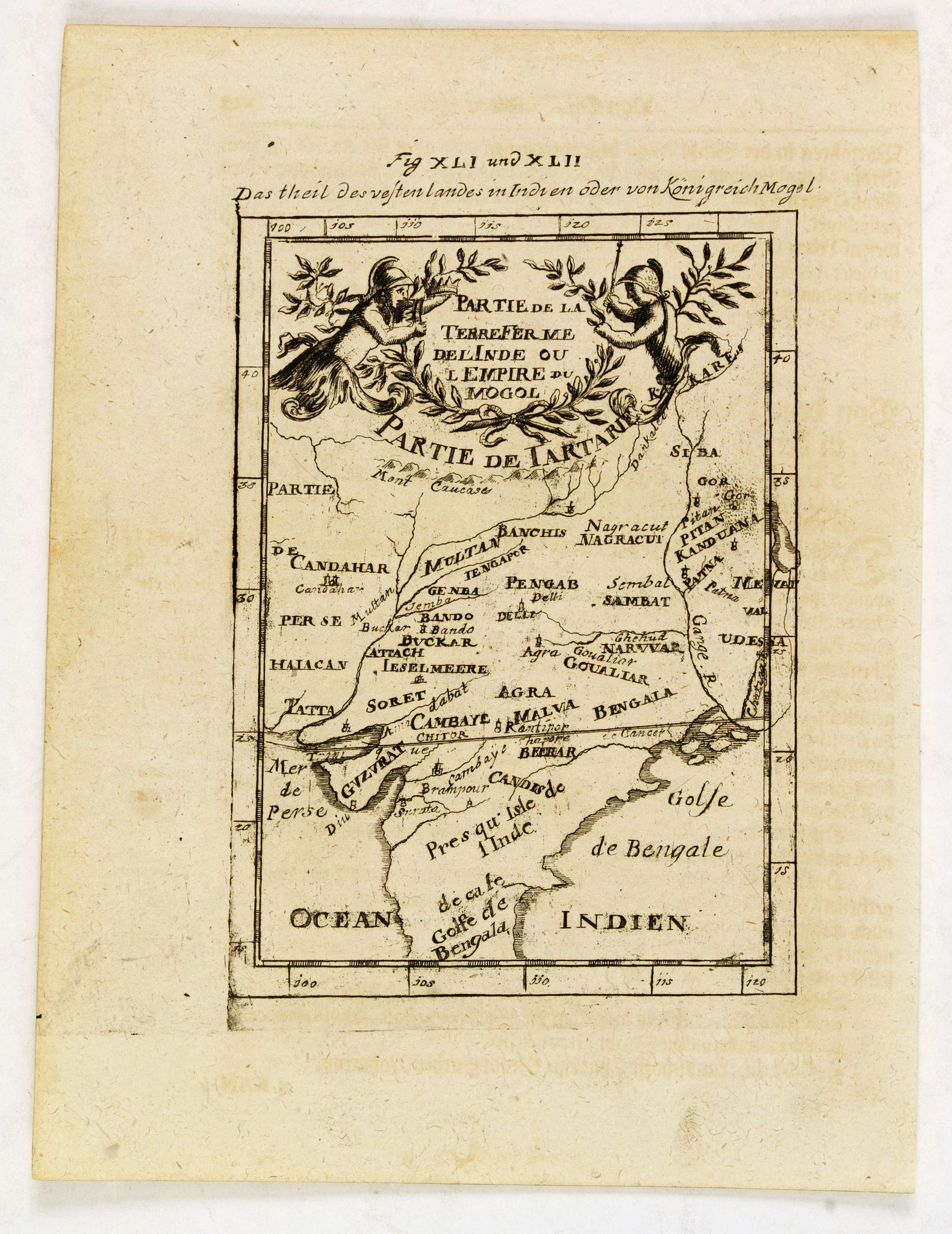 MALLET, A.M. -  Partie de la Terre Ferme de l'Inde ou l'Empire du Mongol.