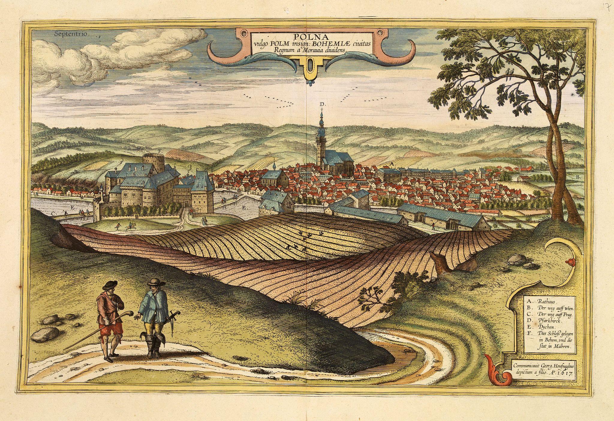 BRAUN, G. / HOGENBERG, F. -  Polna vulgo Polm insign : Bohemia.