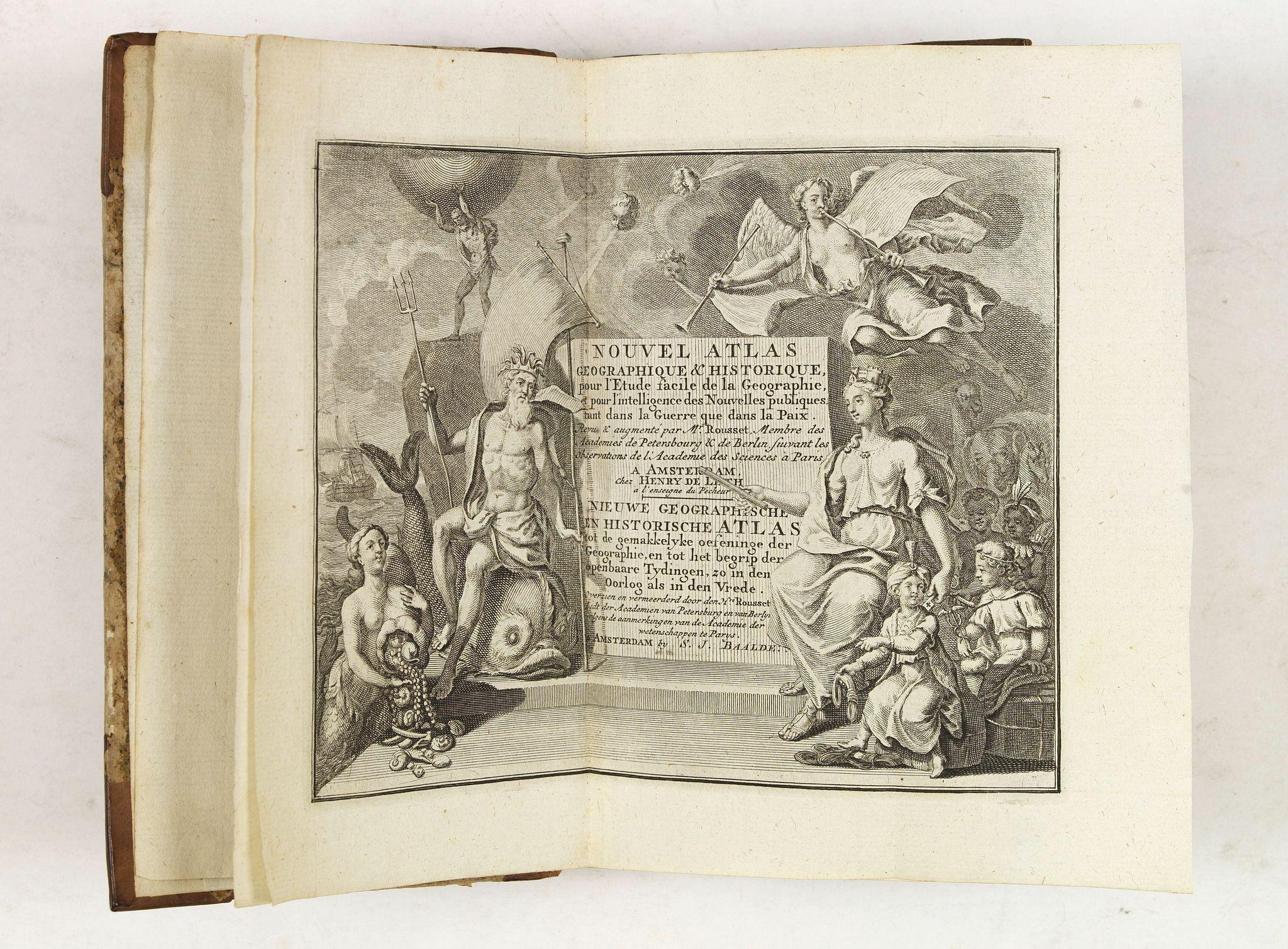 DE LET,H./ BAALDE,S.J. -  Nouvel atlas geographique & historique.. / Nieuwe en geographische en historische Atlas . . .