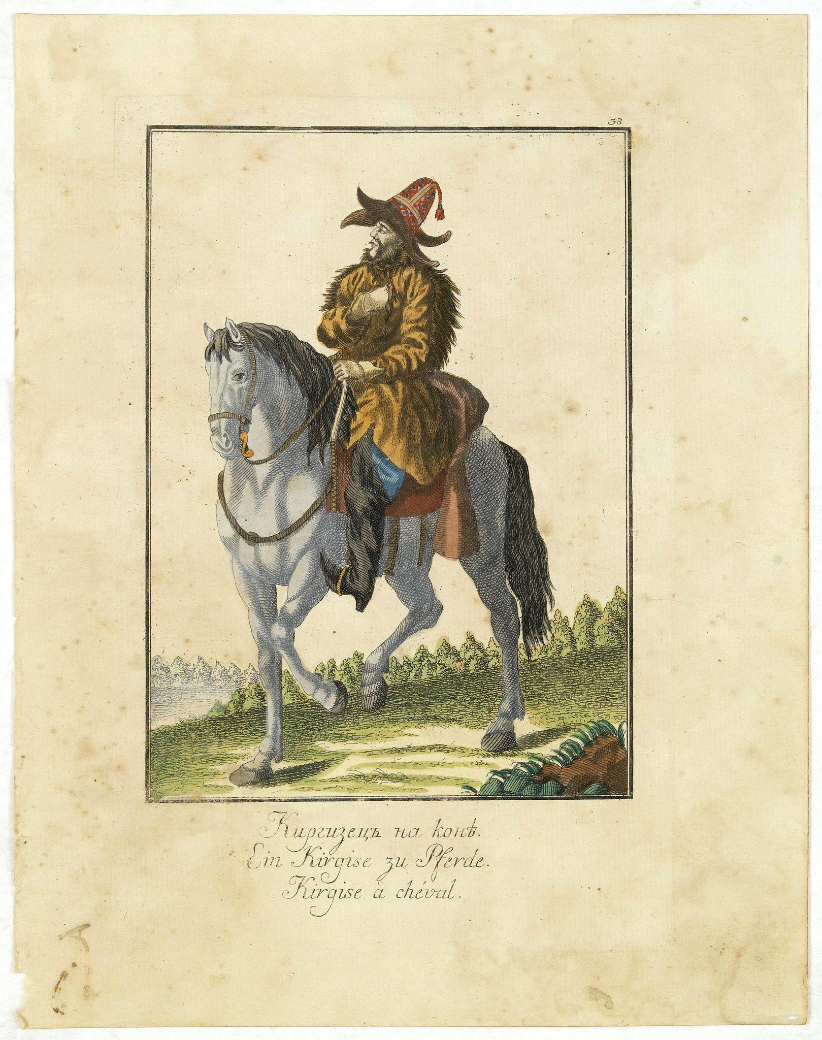 ROTH, Ch. M. -  Kirgise à cheval.