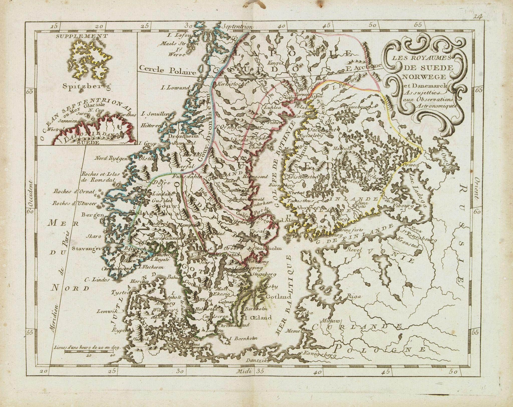 MONDHARE / NOLIN,J.B. -  Les Royaumes De Suede Norwege et Danemark. . .