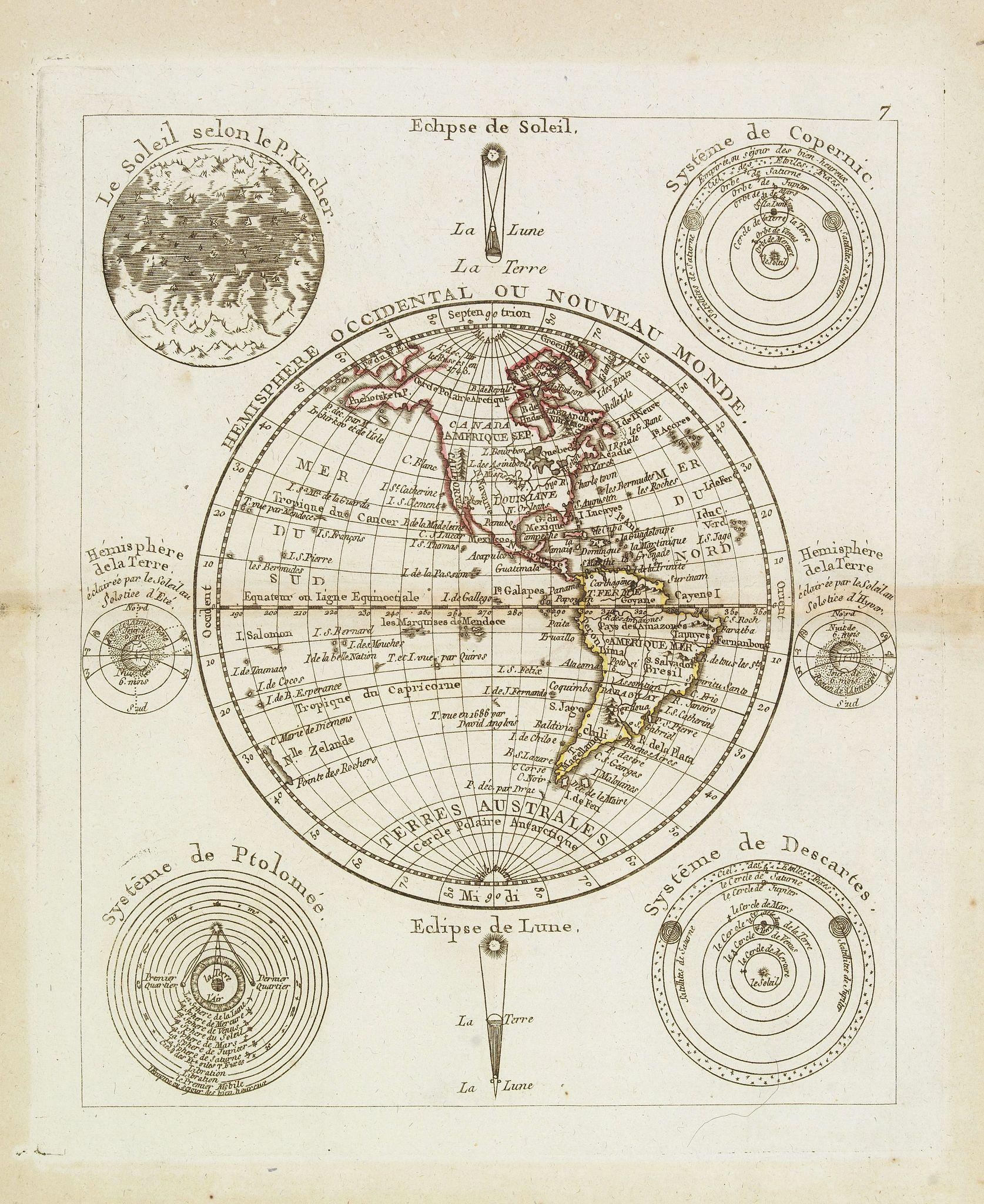 MONDHARE / NOLIN, J.B. -  Hémisphère Oriental ou Nouveau Monde.