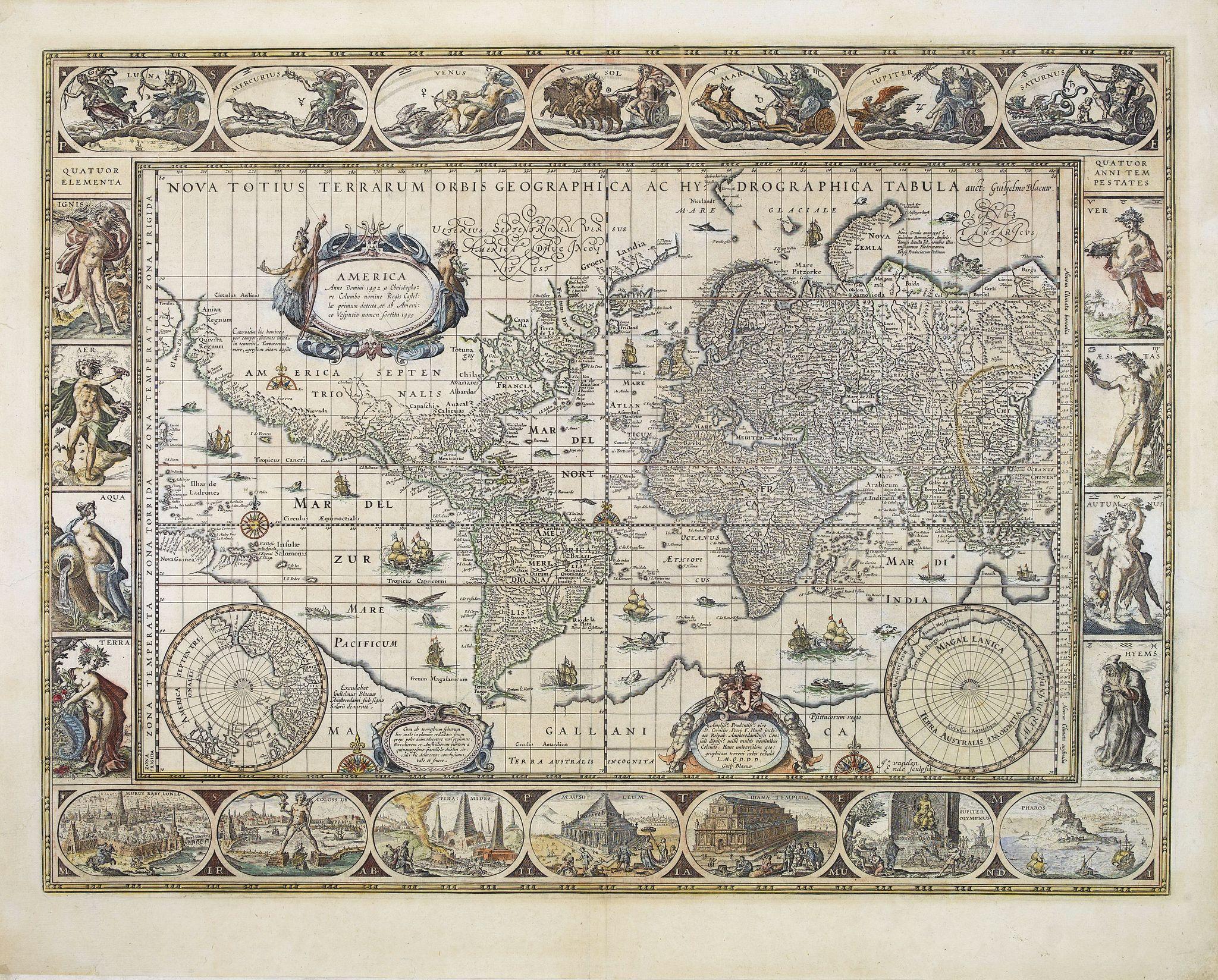 KAERIUS, P. -  Nova Totius Terrarum Orbis Geographica . . .