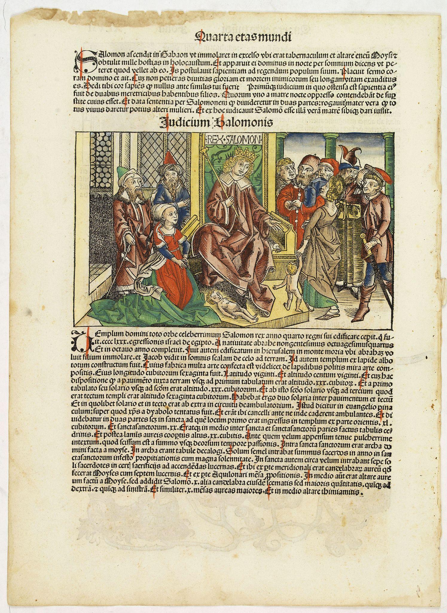 SCHEDEL, H. -  Quarta Etas Mundi. Folium. XLVII