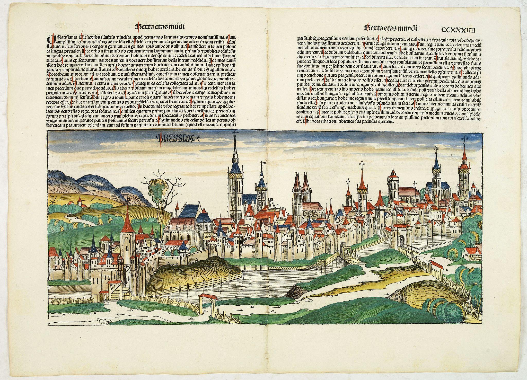 SCHEDEL, H. -  Sexta Etas Mundi. Bressla. [Breslau or Wrocław] CCXXXIIII.