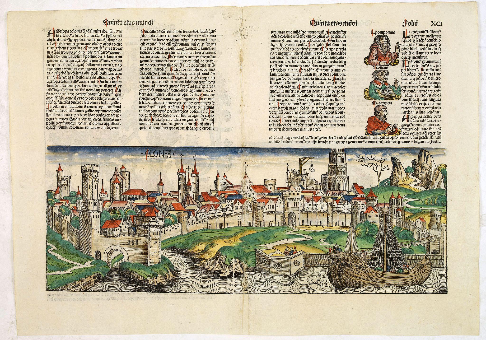 SCHEDEL, H. -  Quinta etas mudi Folio XCI [Colonia]