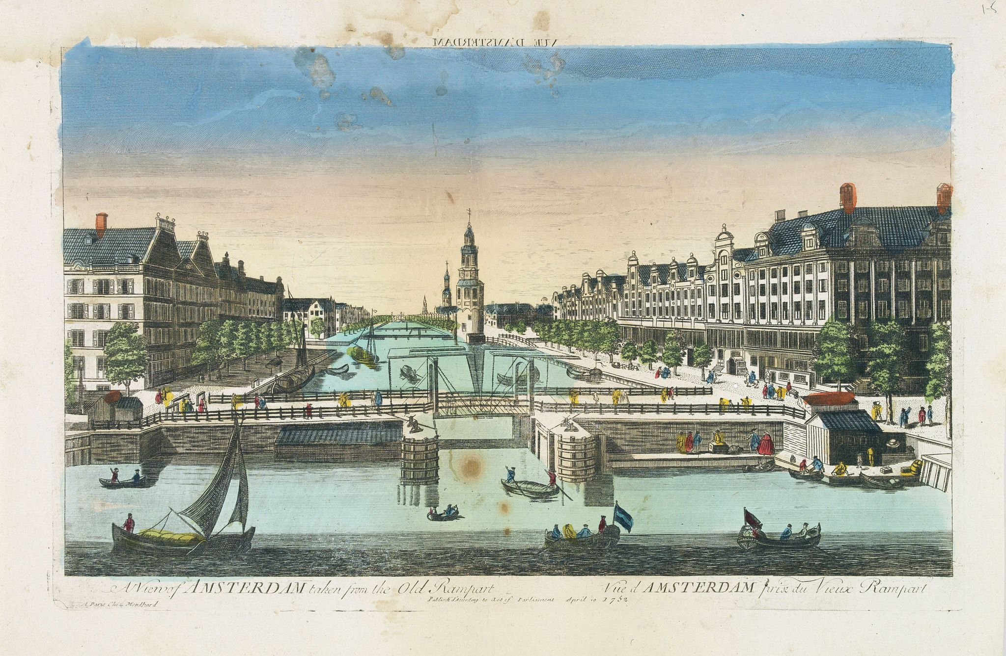 MONDHARE, J. -  A view of Amsterdam taken from the Old Rampart.