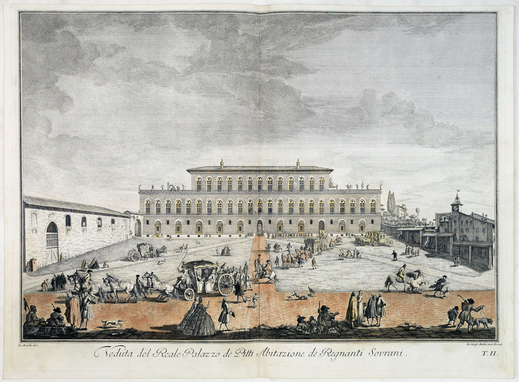 ZOCCHI, G. -  Veduta del Reale Palazzo dé Pitti Abitazione dé Regnanti Sovrani.
