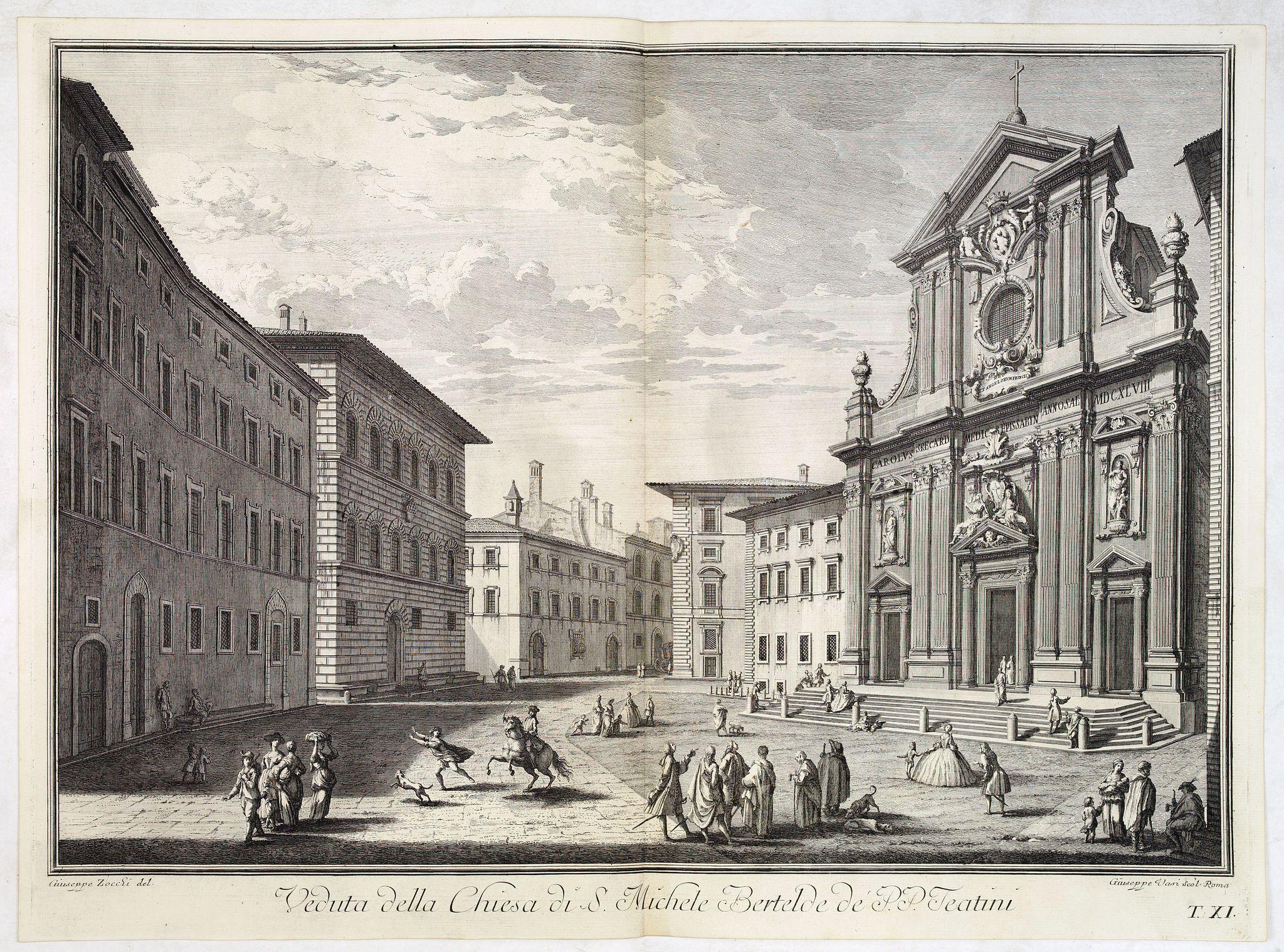 ZOCCHI, G. -  Veduta della Chiesa di S. Michele Bertelde de' PP. Teatini.