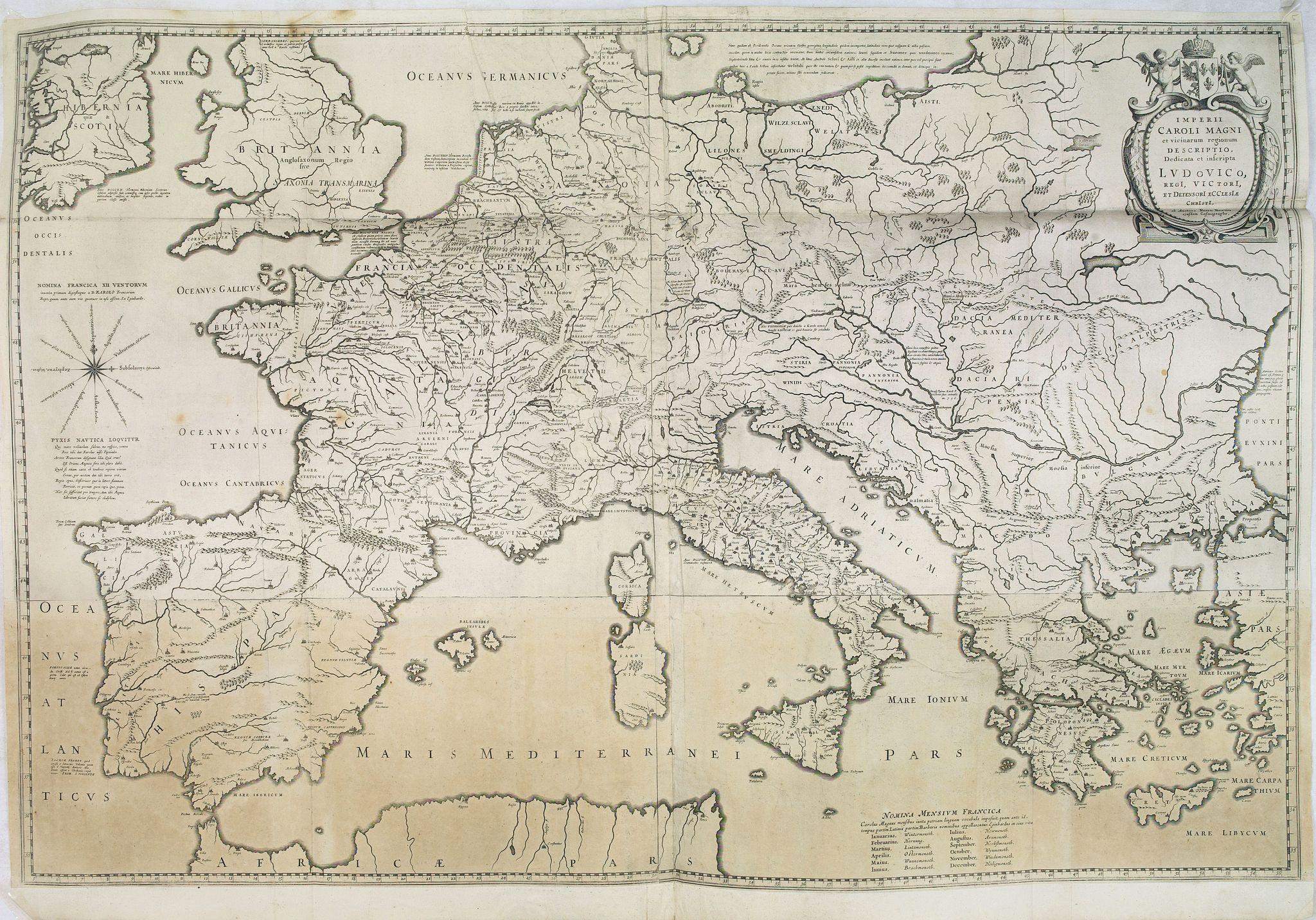 BLAEU, W. -  Imperii Caroli Magni.