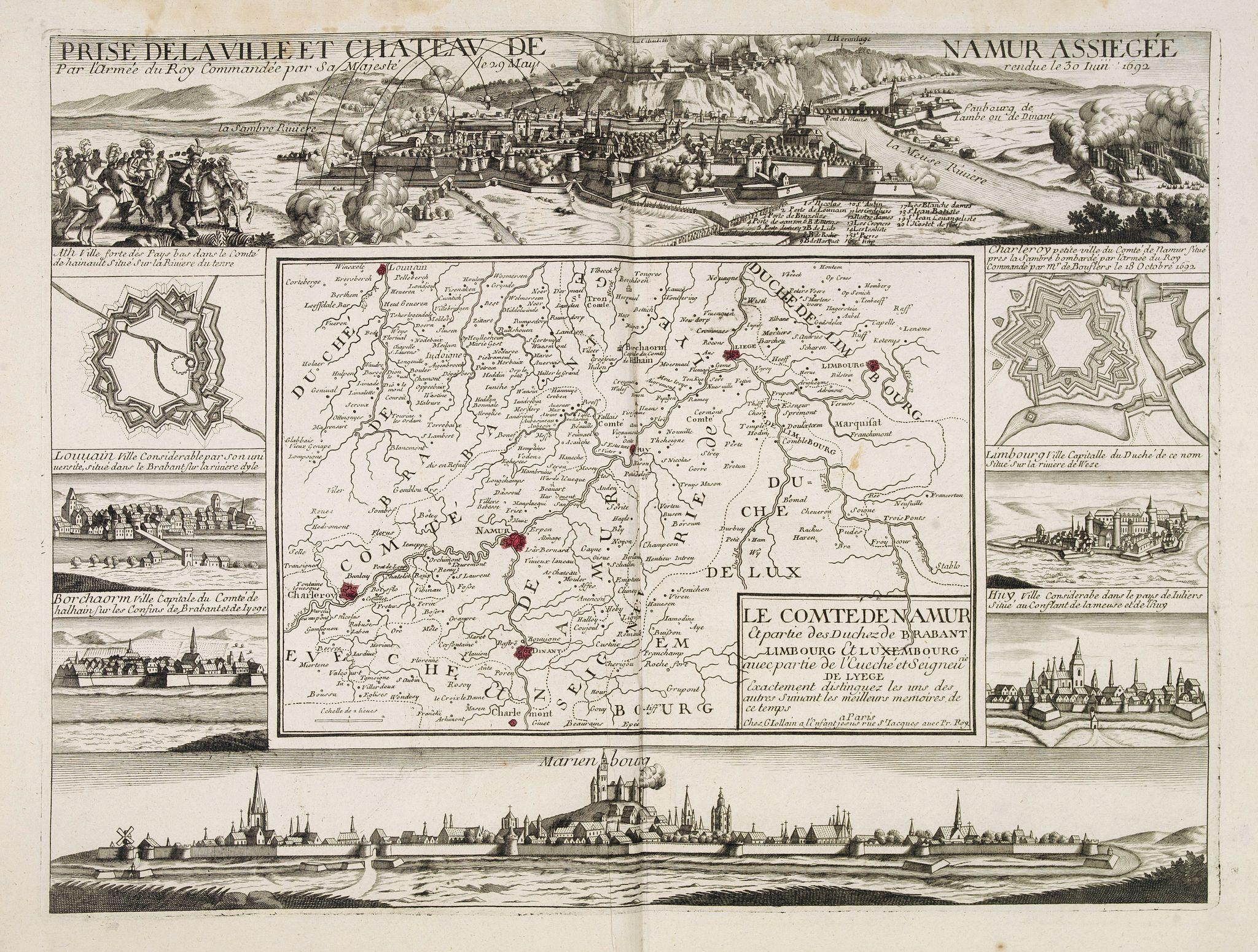 JOLLAIN, F. -  Le comte de Namur et partie des Duchez de Brabant. . .