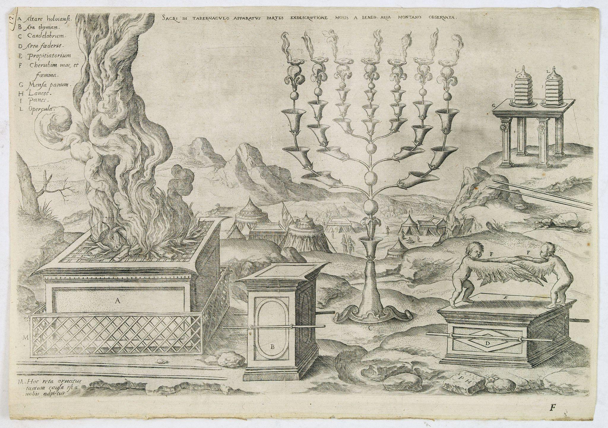 ARIAS MONTANUS, B. -  Sacri in tabernaculo apparatus partes ex descriptione Mosis. . .
