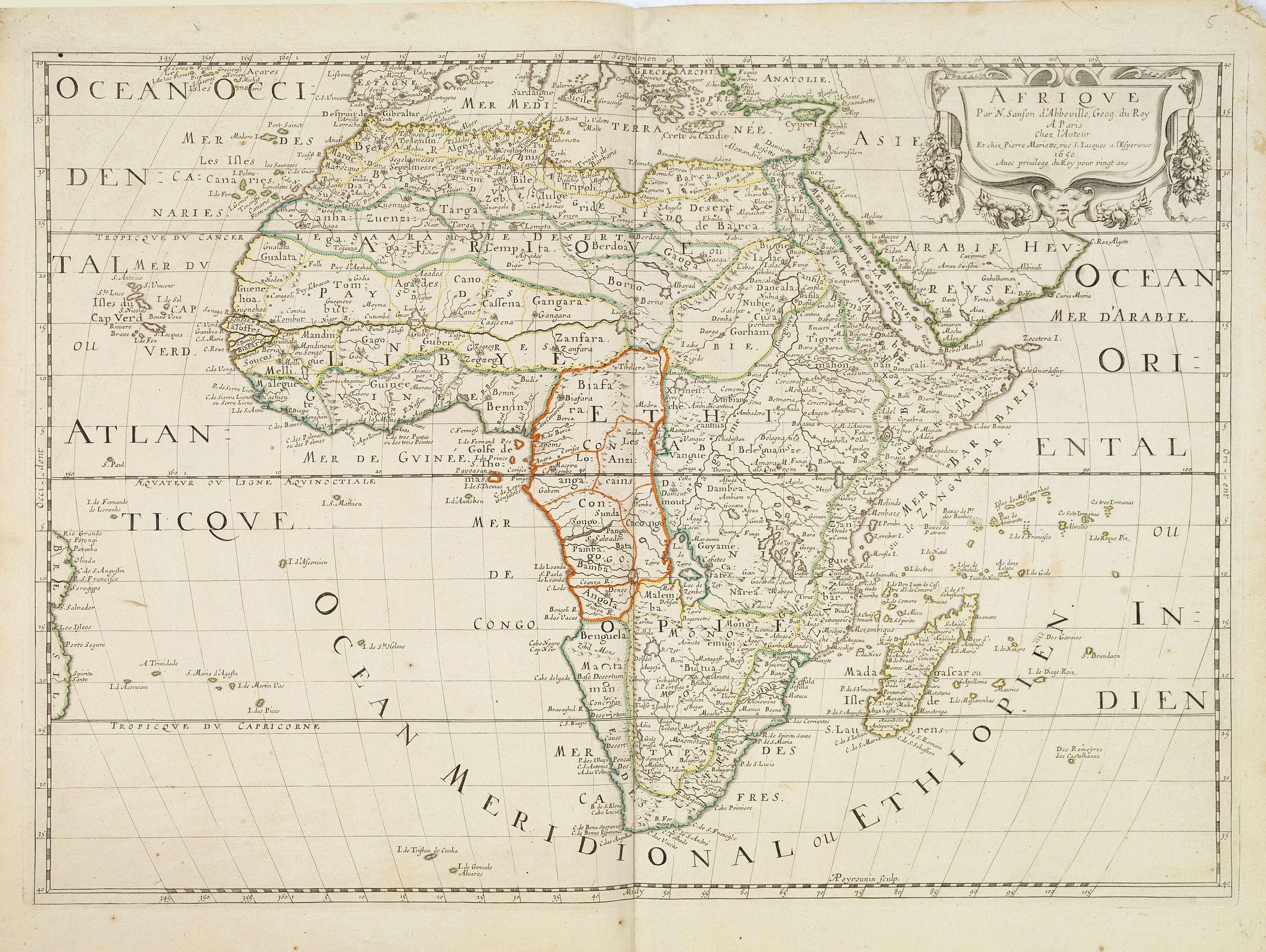 SANSON, N./ MARIETTE, P. -  Afrique Par N. Sanson d