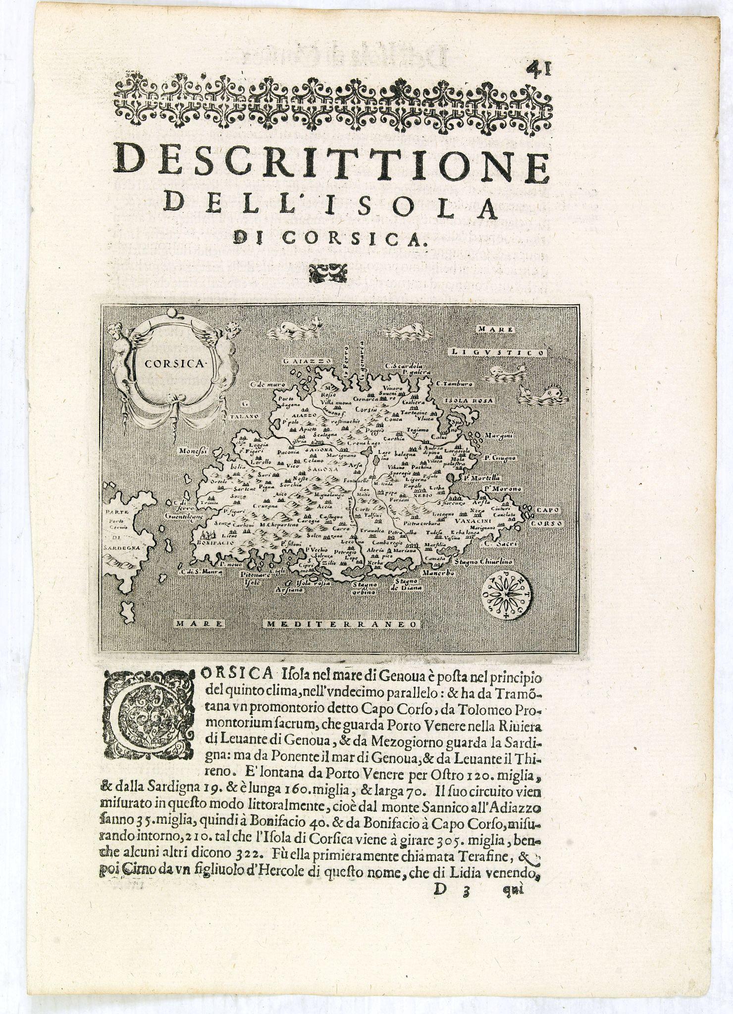 PORCACCHI,Th./ PORRO. -  Corsica.