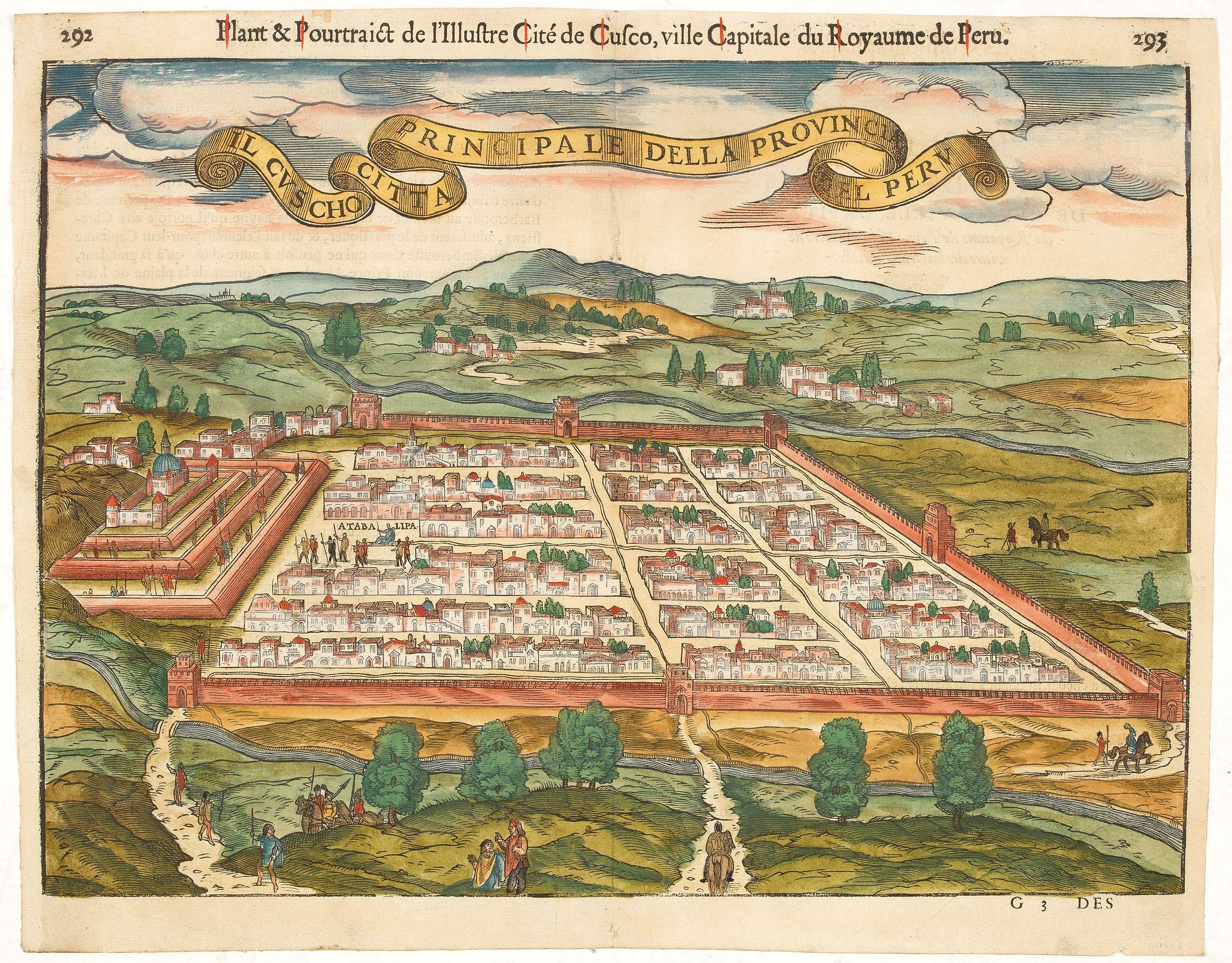 DE BELLEFOREST, F. -  Il Cuscho citta principale della provincia del Peru.