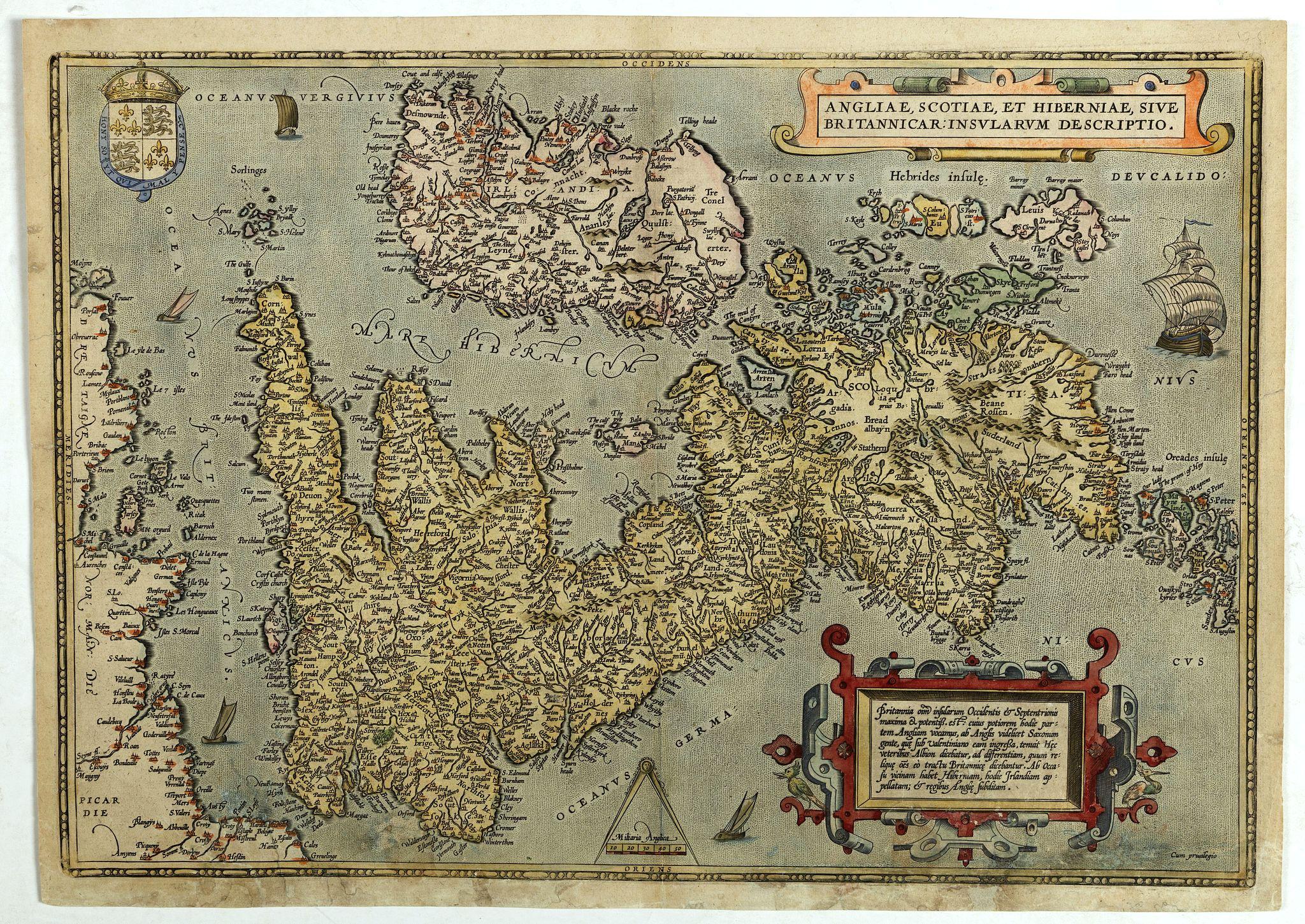 ORTELIUS, A. -  Angliae, scotiae, et Hiberniae, sive Britannicar insularum.