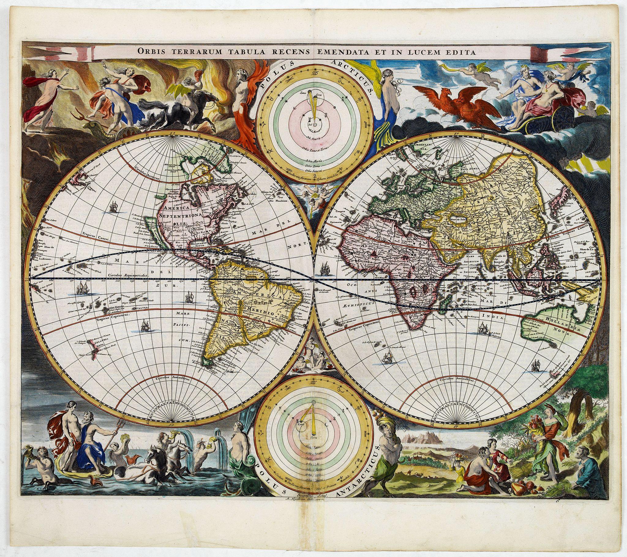STOOPENDAAL, B. -  Orbis Terrarum Tabula recens emendata et in Lucem edita.